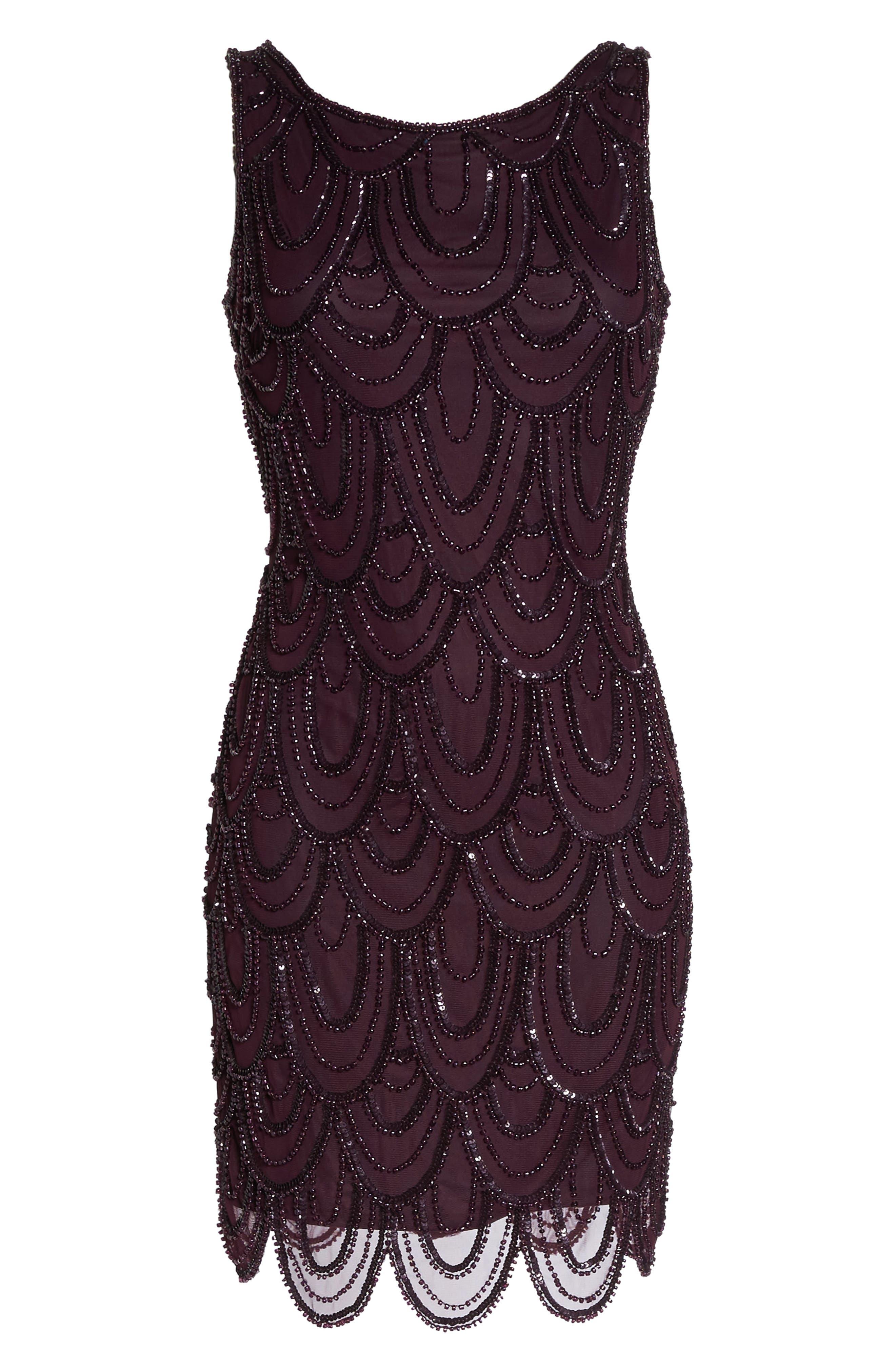 Embellished Mesh Sheath Dress,                             Alternate thumbnail 96, color,