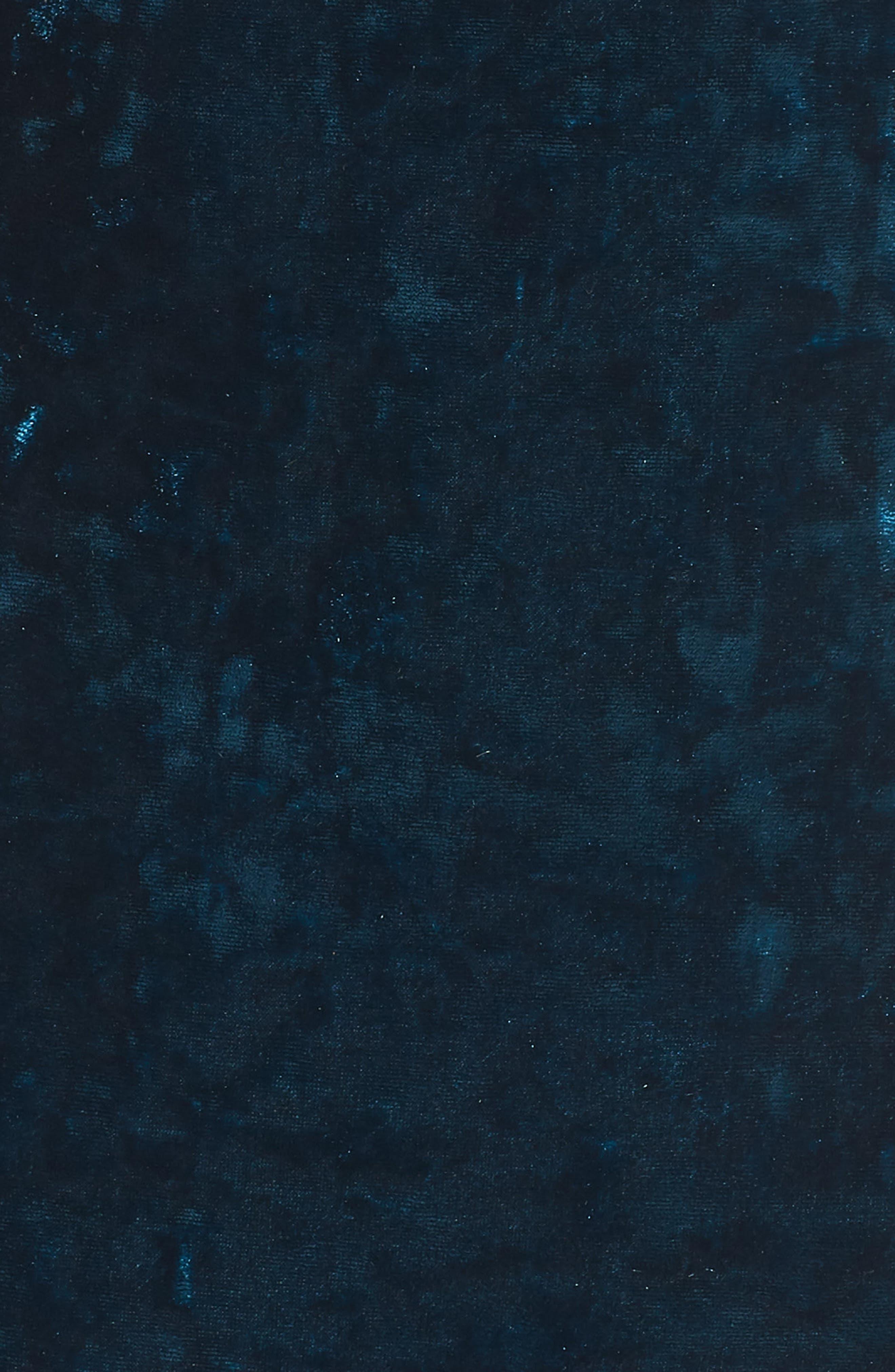 Off the Shoulder Velvet Dress,                             Alternate thumbnail 6, color,                             PEACOCK