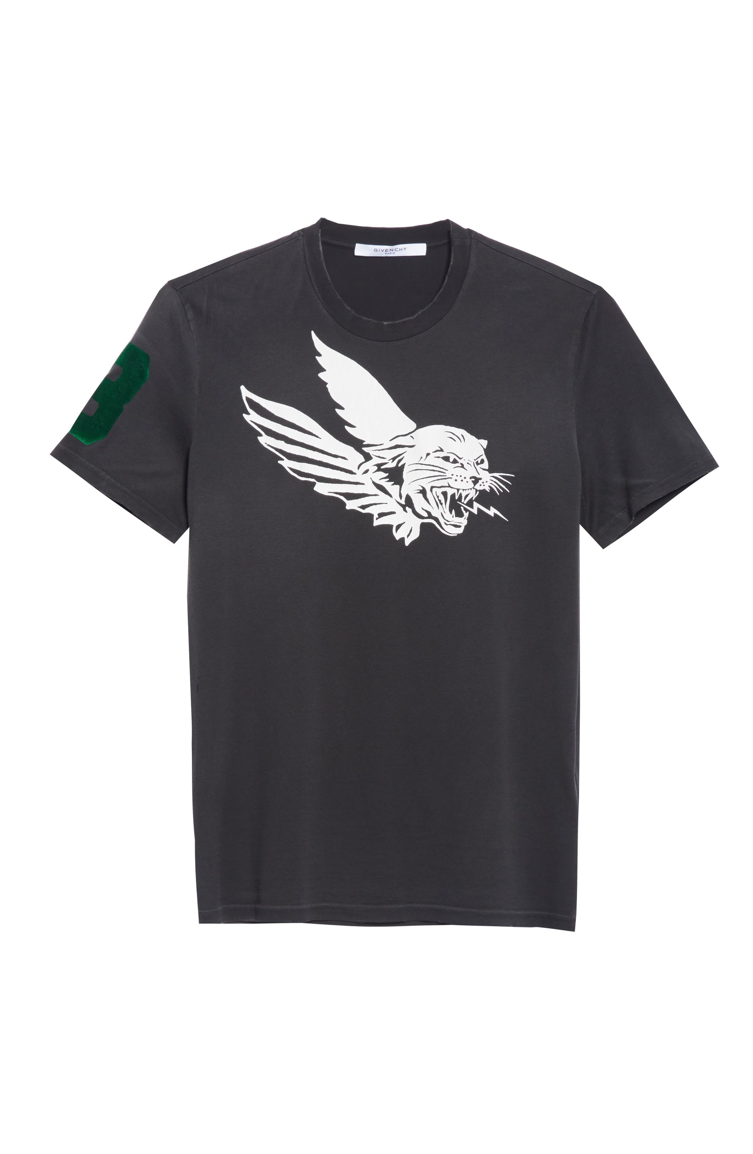 Flying Tiger Graphic T-Shirt,                             Alternate thumbnail 6, color,                             BLACK