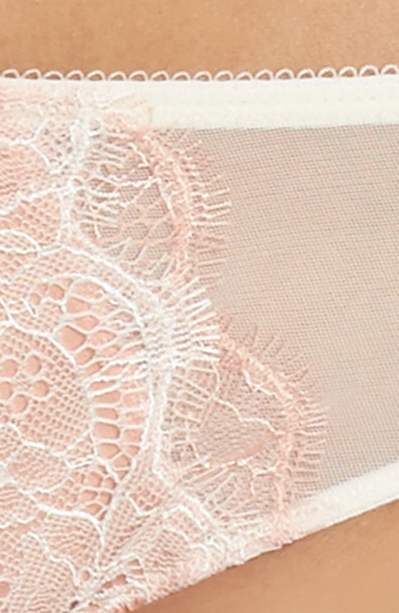 'B Sultry' Bikini,                             Alternate thumbnail 4, color,                             VANILLA ICE/ PEACH BEIGE