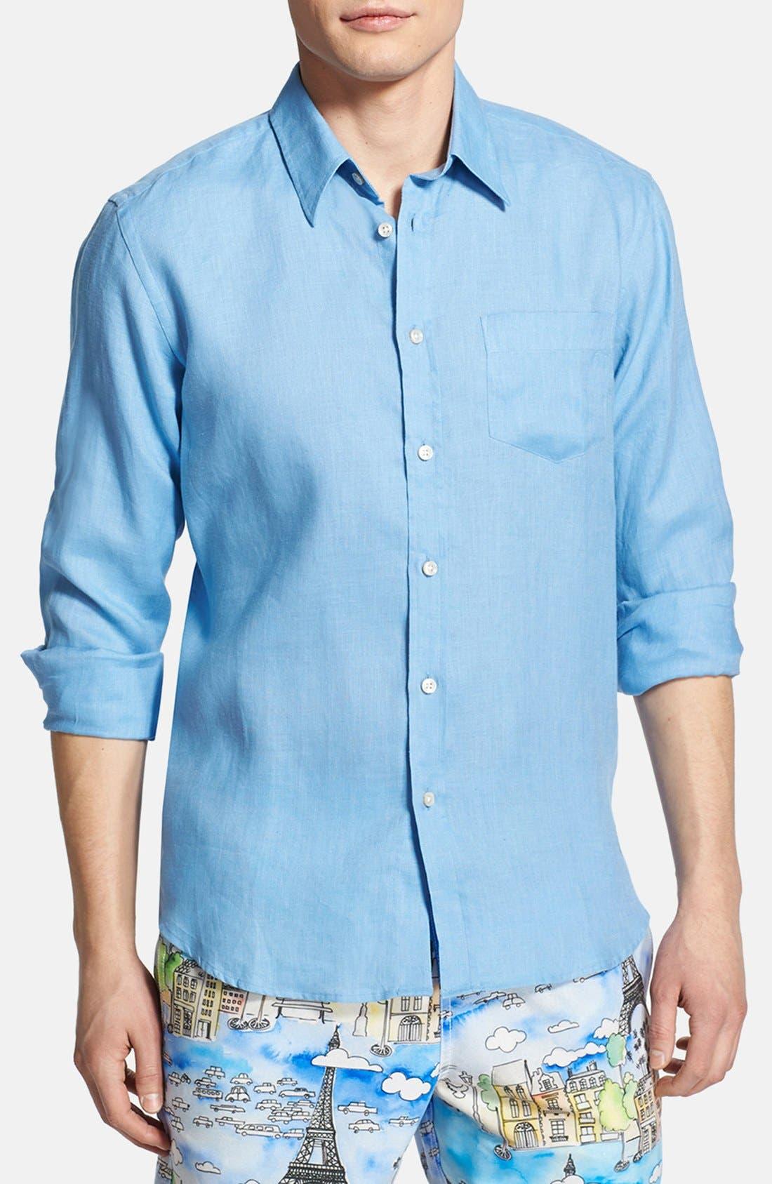 'Caroubier' Linen Shirt,                             Alternate thumbnail 52, color,