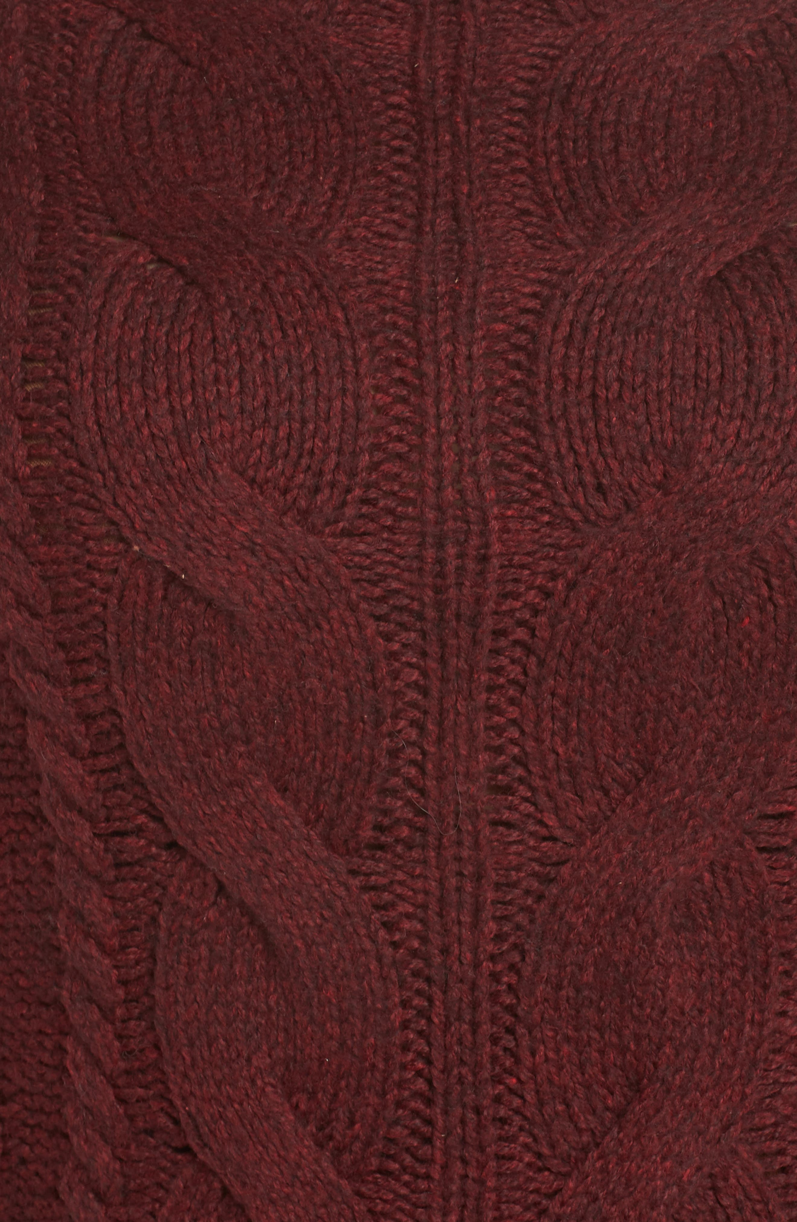 Cotton Blend Cable Knit Sweater,                             Alternate thumbnail 7, color,                             MANOR RED
