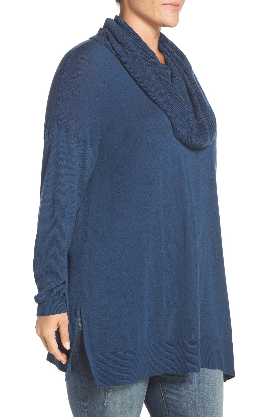 Cowl Neck Tunic Sweater,                             Alternate thumbnail 23, color,