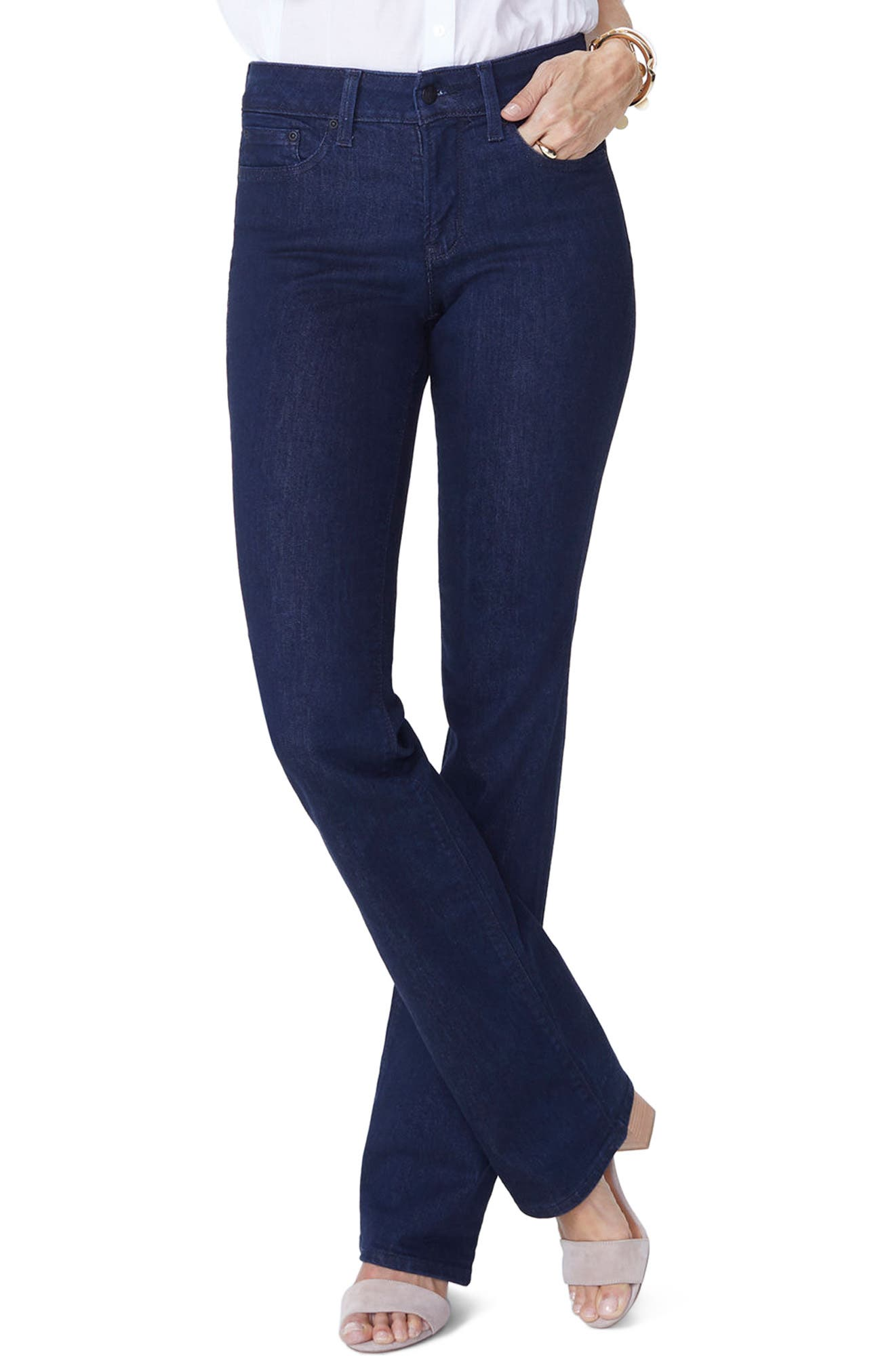 Barbara High Waist Stretch Bootcut Jeans,                             Main thumbnail 1, color,                             RINSE