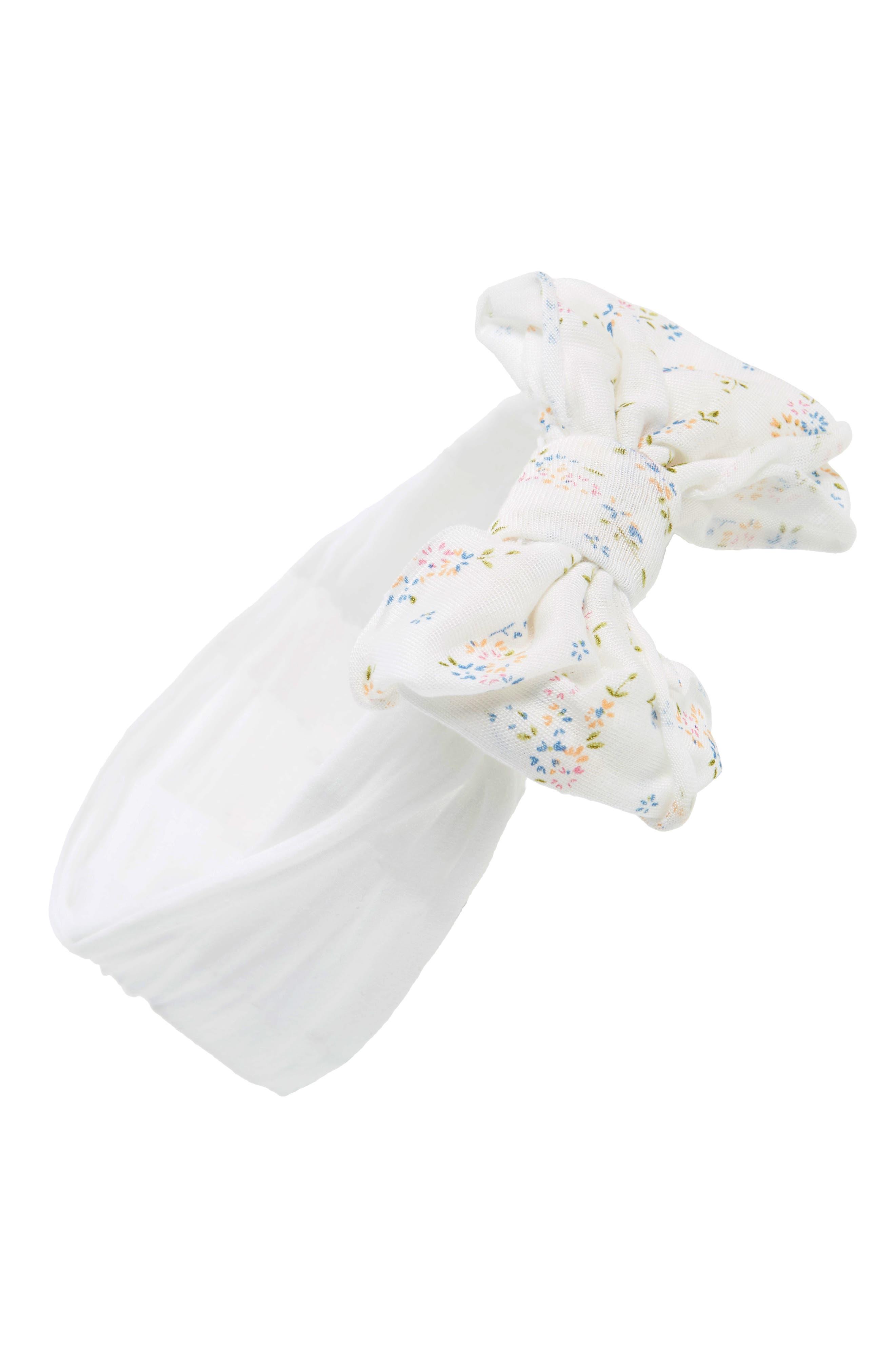 Jersey Bow Headband,                             Main thumbnail 1, color,                             100