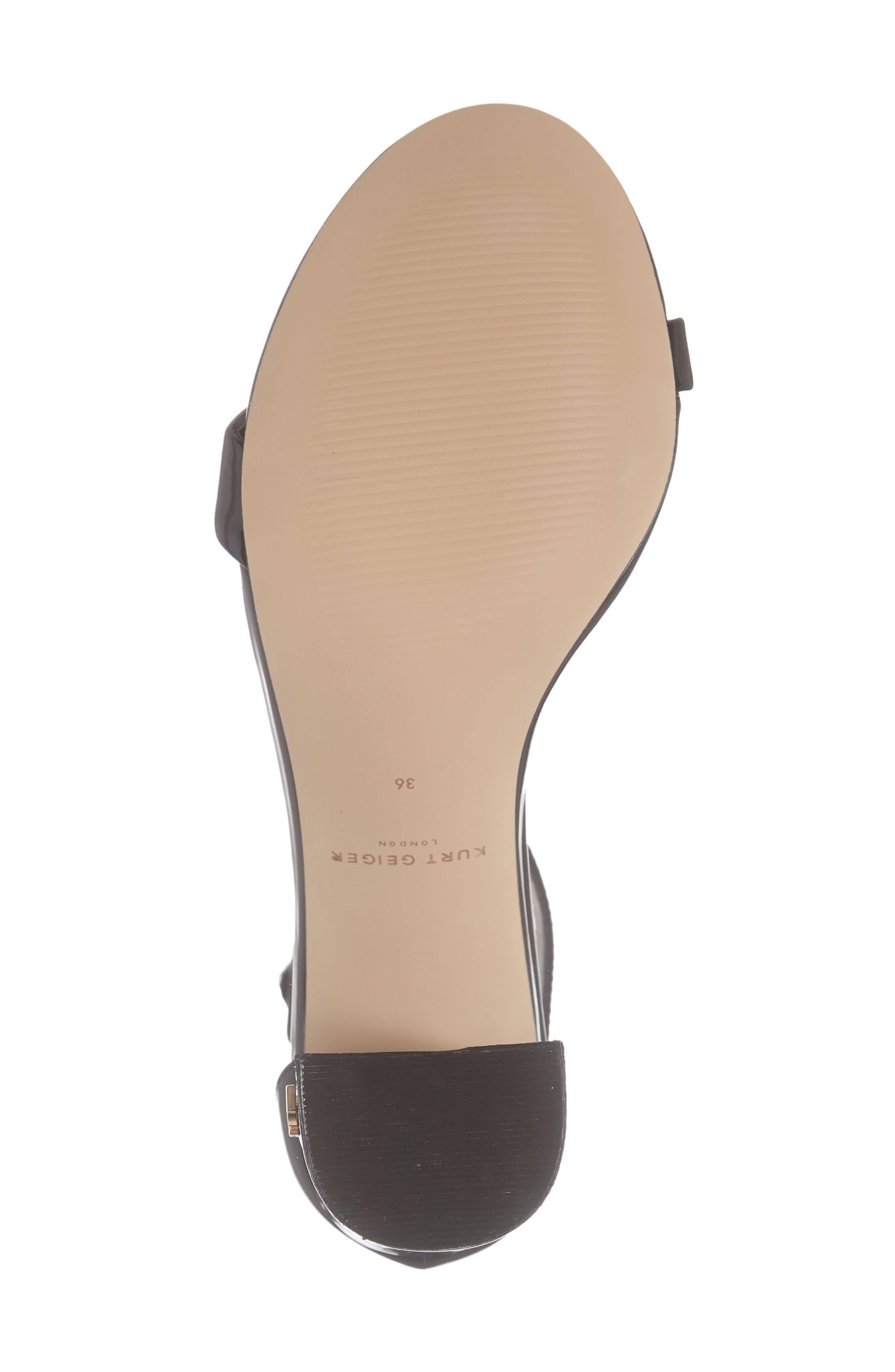 Langley Ankle Strap Sandal,                             Alternate thumbnail 6, color,                             BLACK LEATHER