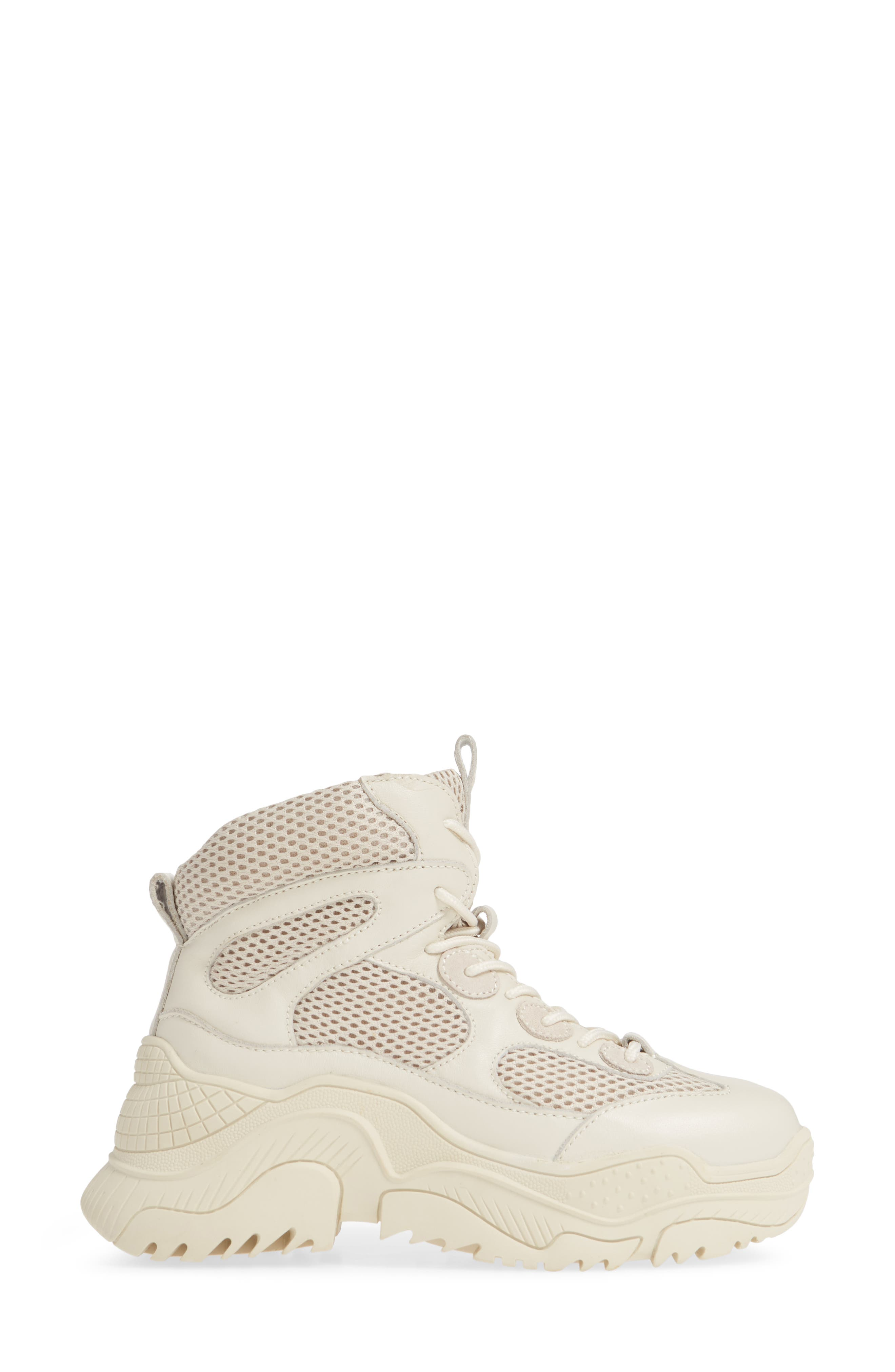 Pyro Wedge Sneaker Boot,                             Alternate thumbnail 3, color,                             OFF WHITE COMBO