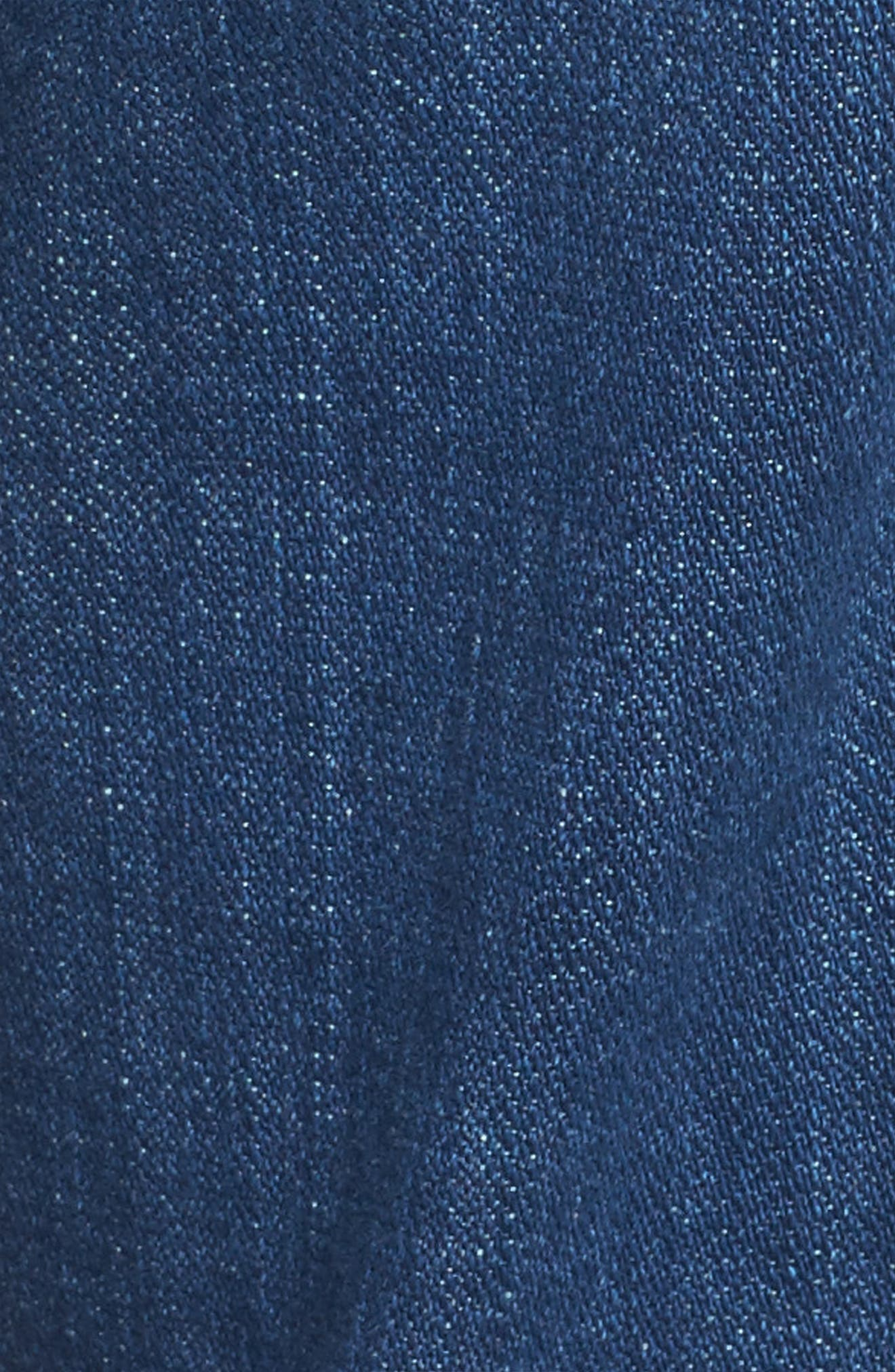 Edie High Waist Crop Jeans,                             Alternate thumbnail 5, color,                             400