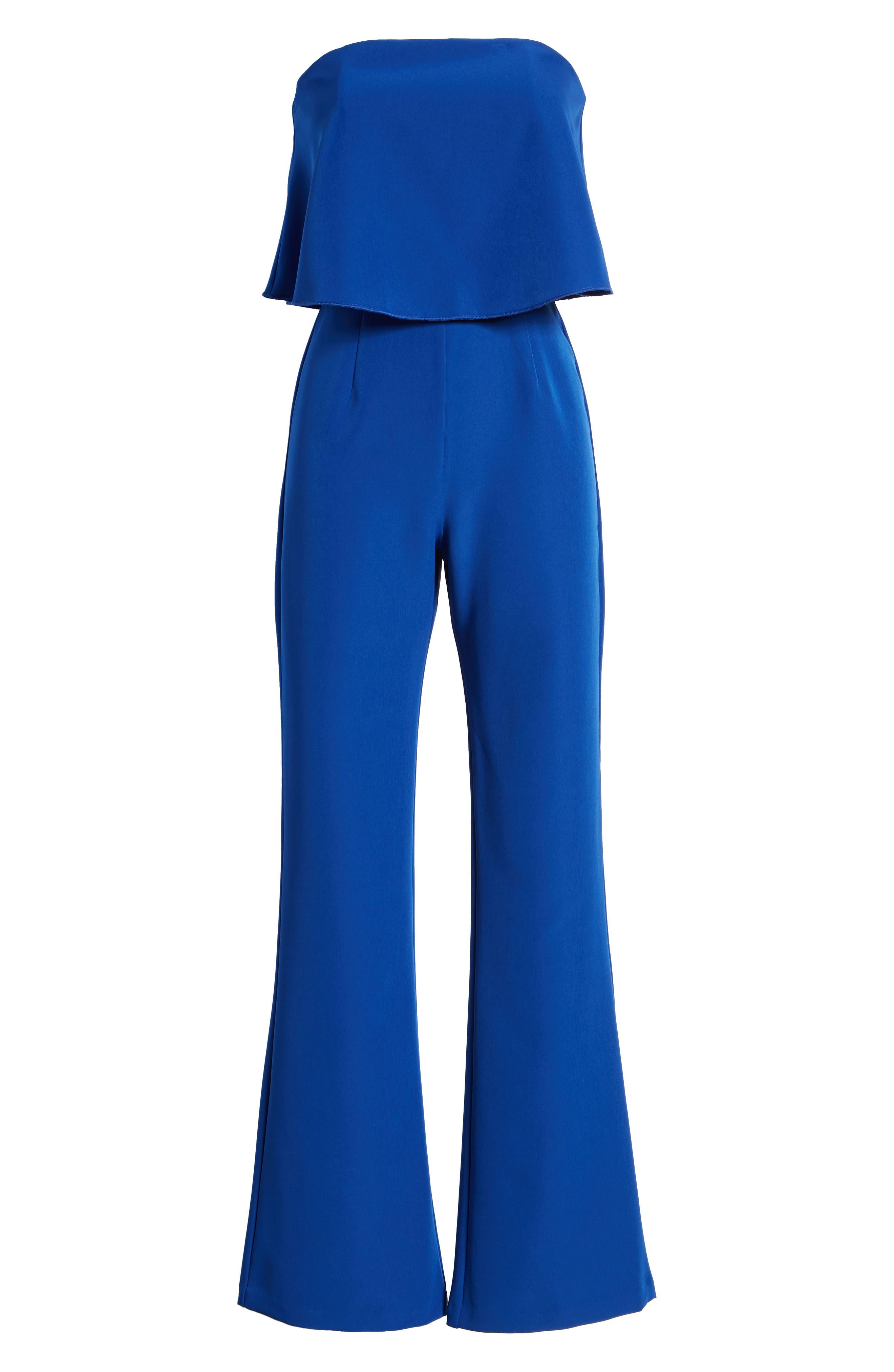 Popover Jumpsuit,                             Alternate thumbnail 7, color,                             BLUE MAZARINE