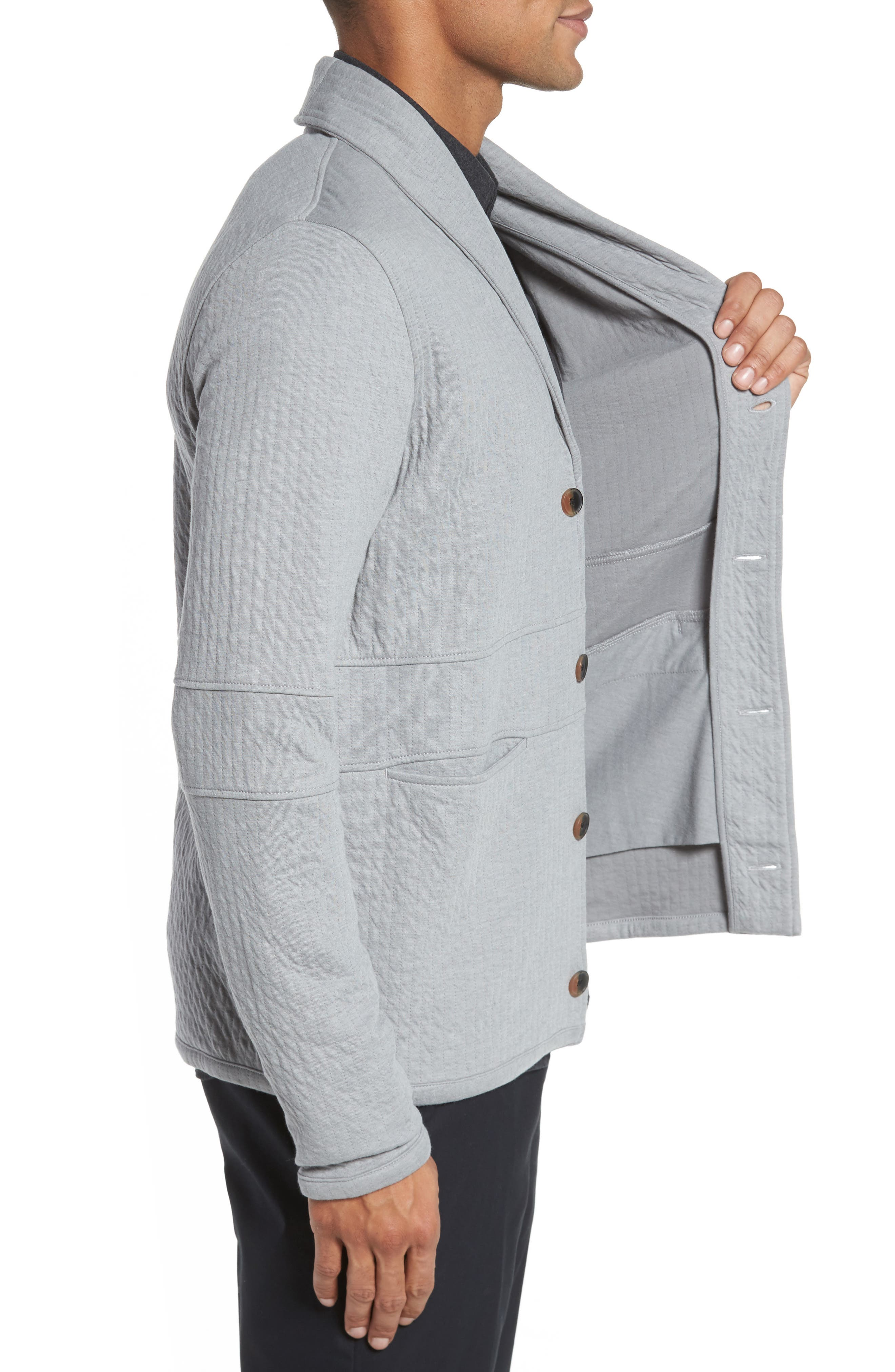 Quilted Shawl Collar Sweater,                             Alternate thumbnail 6, color,