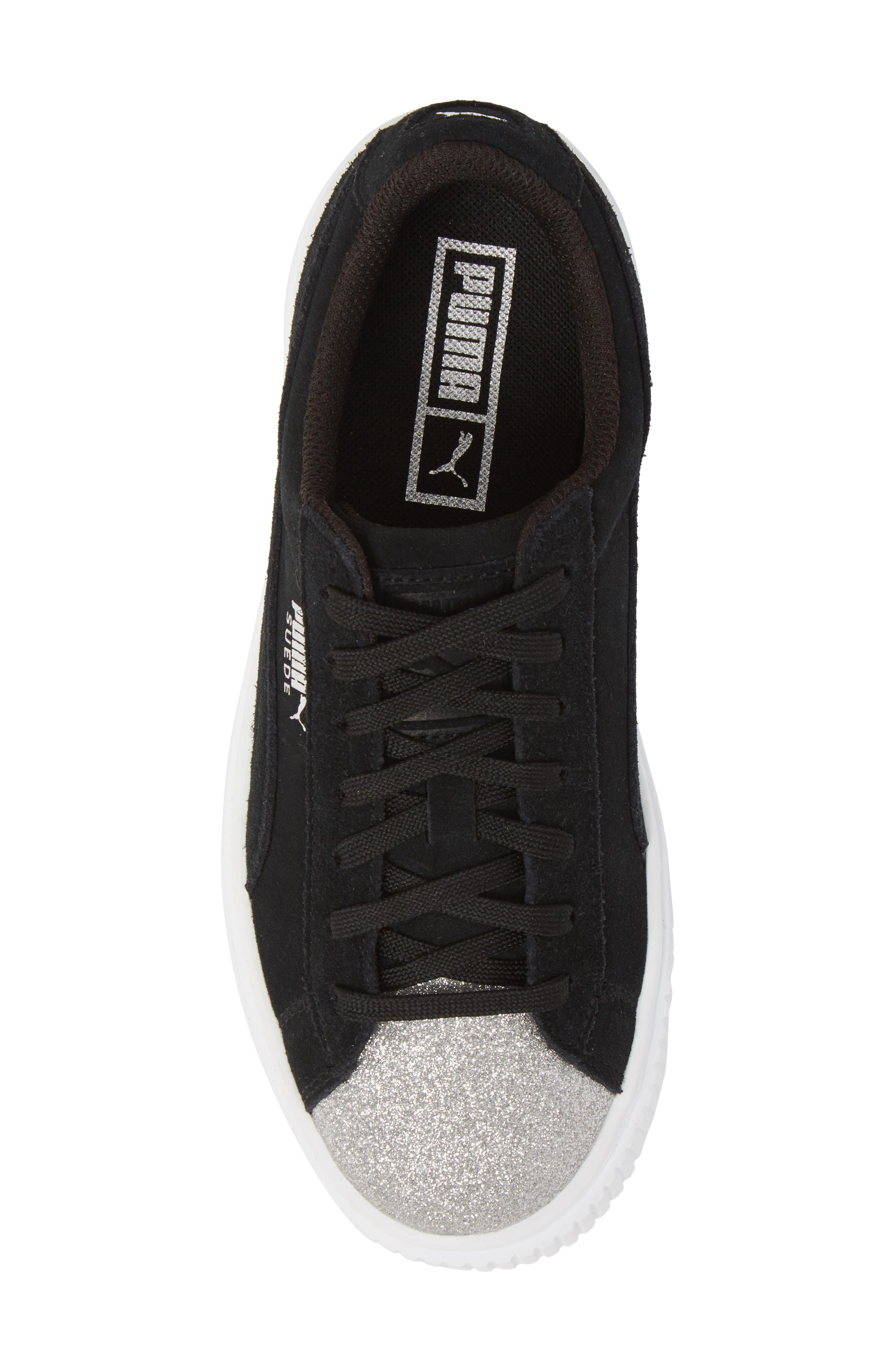 Suede Platform Glam PS Sneaker,                             Alternate thumbnail 21, color,