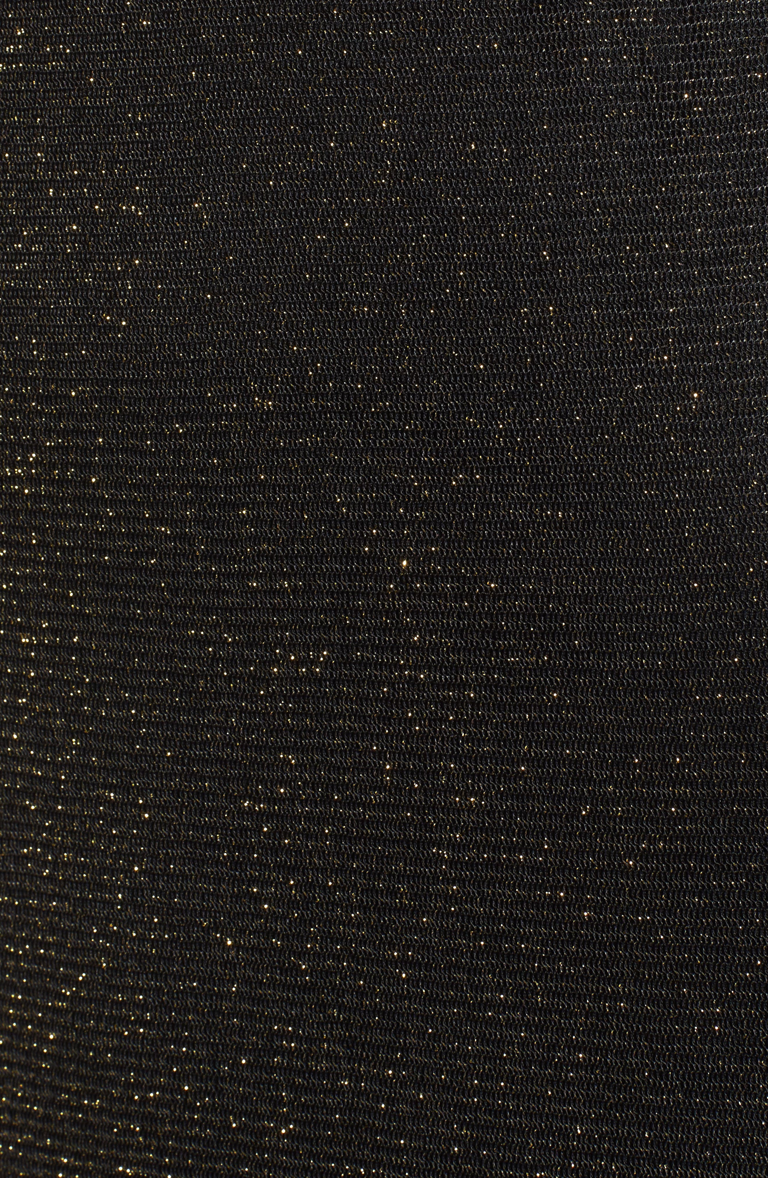 Metallic Mesh Body-Con Dress,                             Alternate thumbnail 5, color,                             710