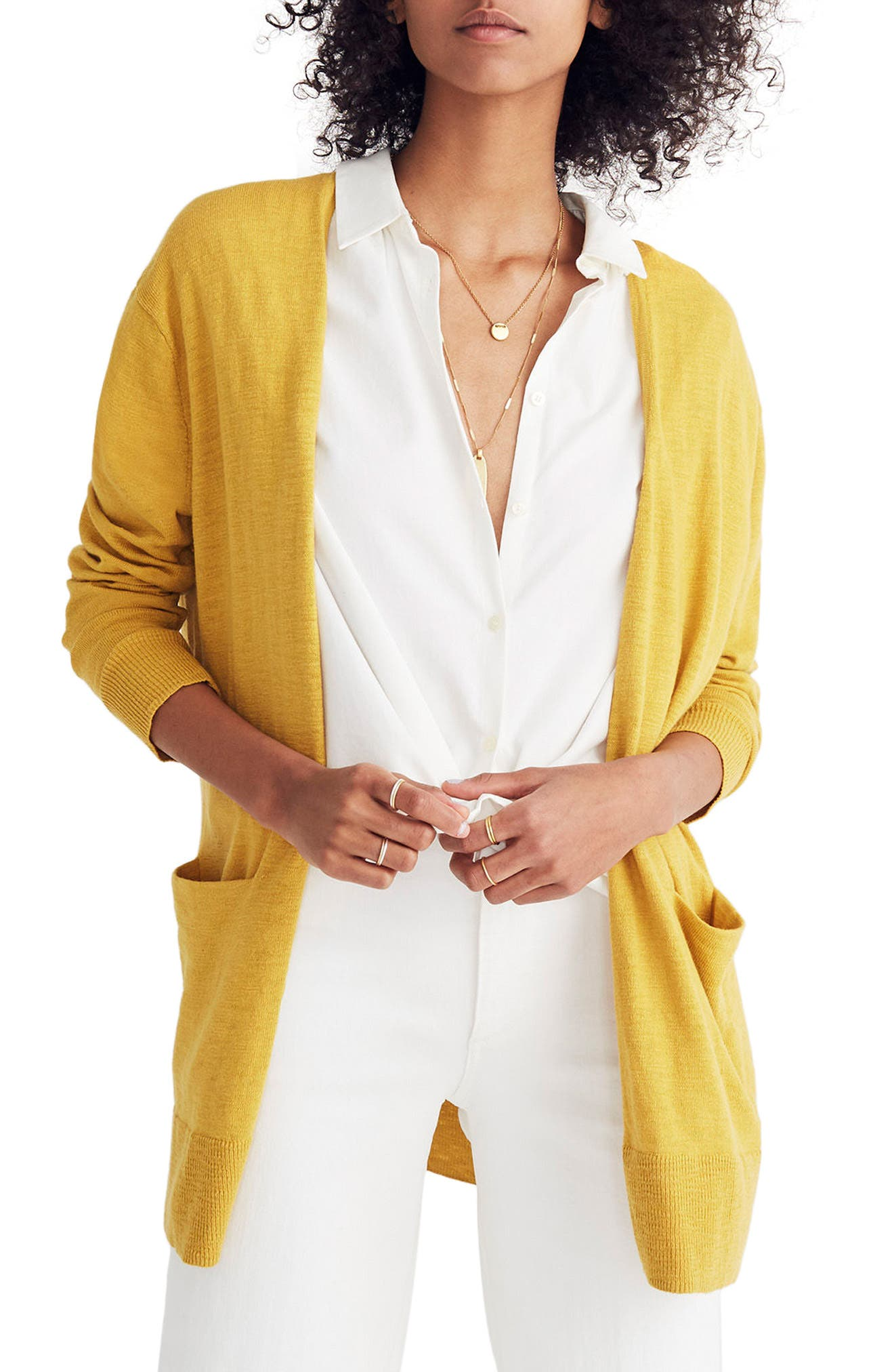 Madewell Summer Ryder Cardigan, Yellow