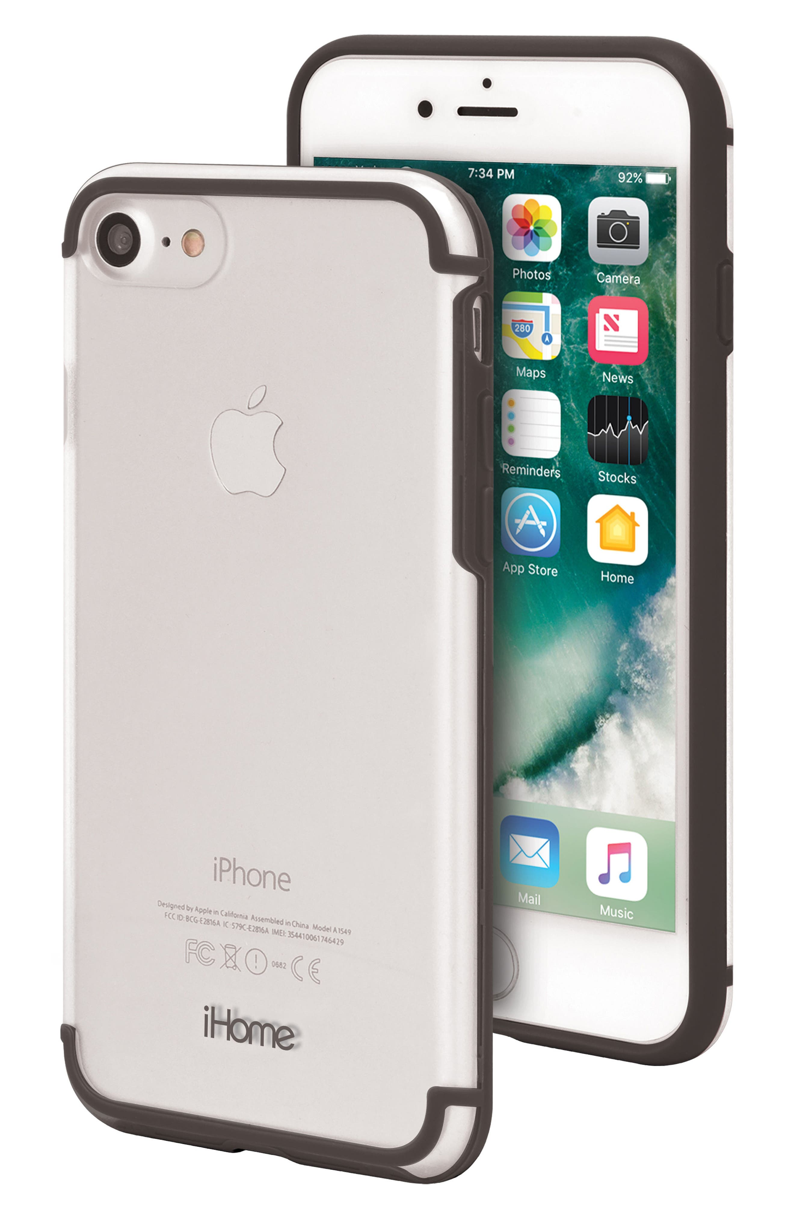Sheer 2.0 iPhone 7/8 Case,                         Main,                         color, 001