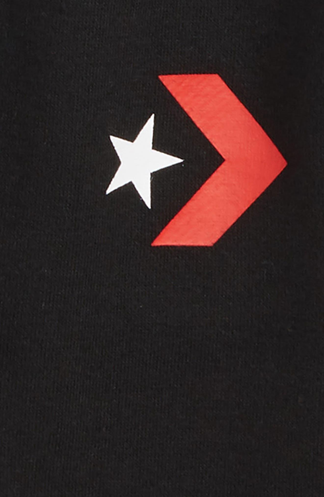 Star Chevron Graphic Shorts,                             Alternate thumbnail 2, color,                             BLACK