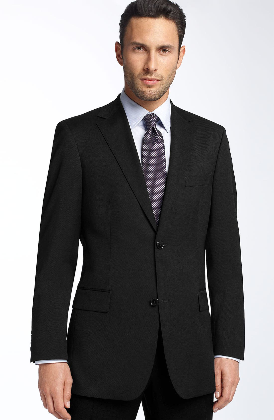 BOSS HUGO BOSS 'Pasolini' Black Virgin Wool Sportcoat,                             Main thumbnail 1, color,                             001