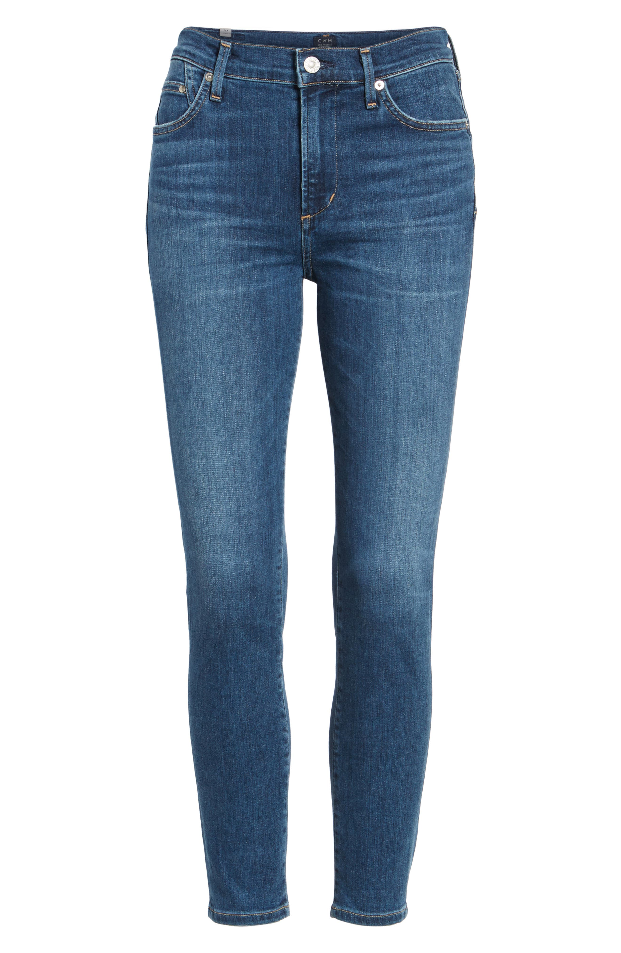Rocket High Waist Crop Skinny Jeans,                             Alternate thumbnail 2, color,                             430