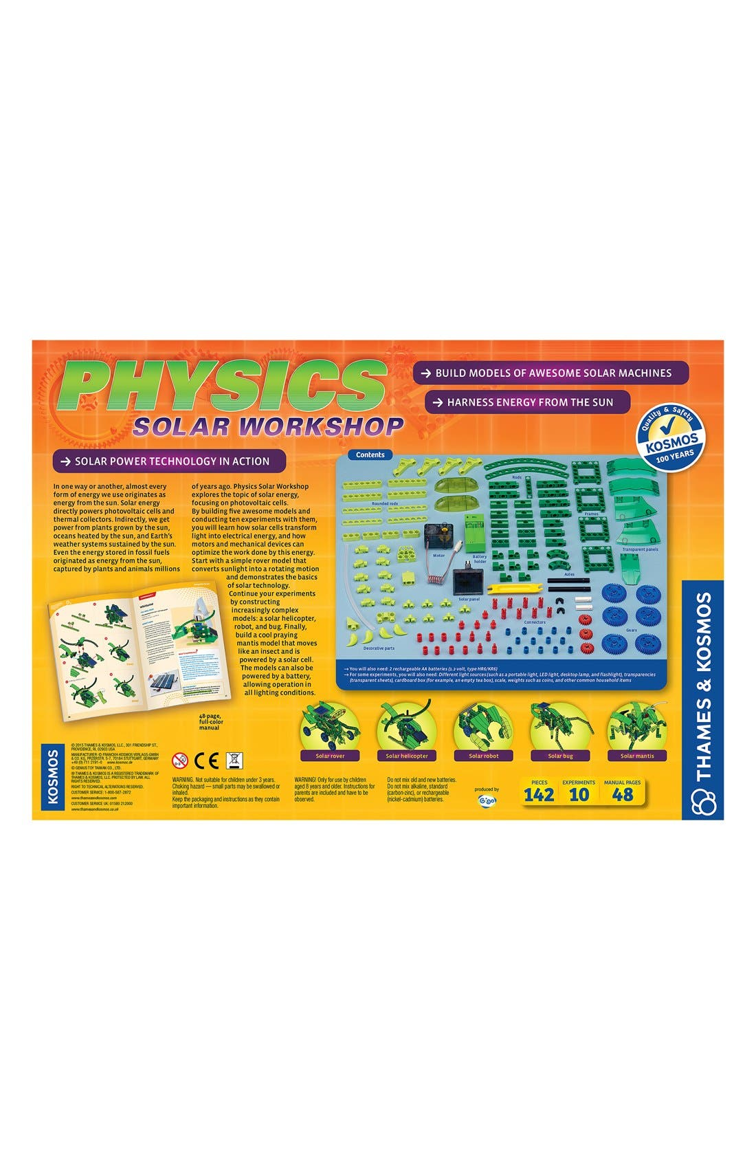 'Physics Solar Workshop V2.0' Experiment Kit,                             Alternate thumbnail 2, color,                             ORANGE