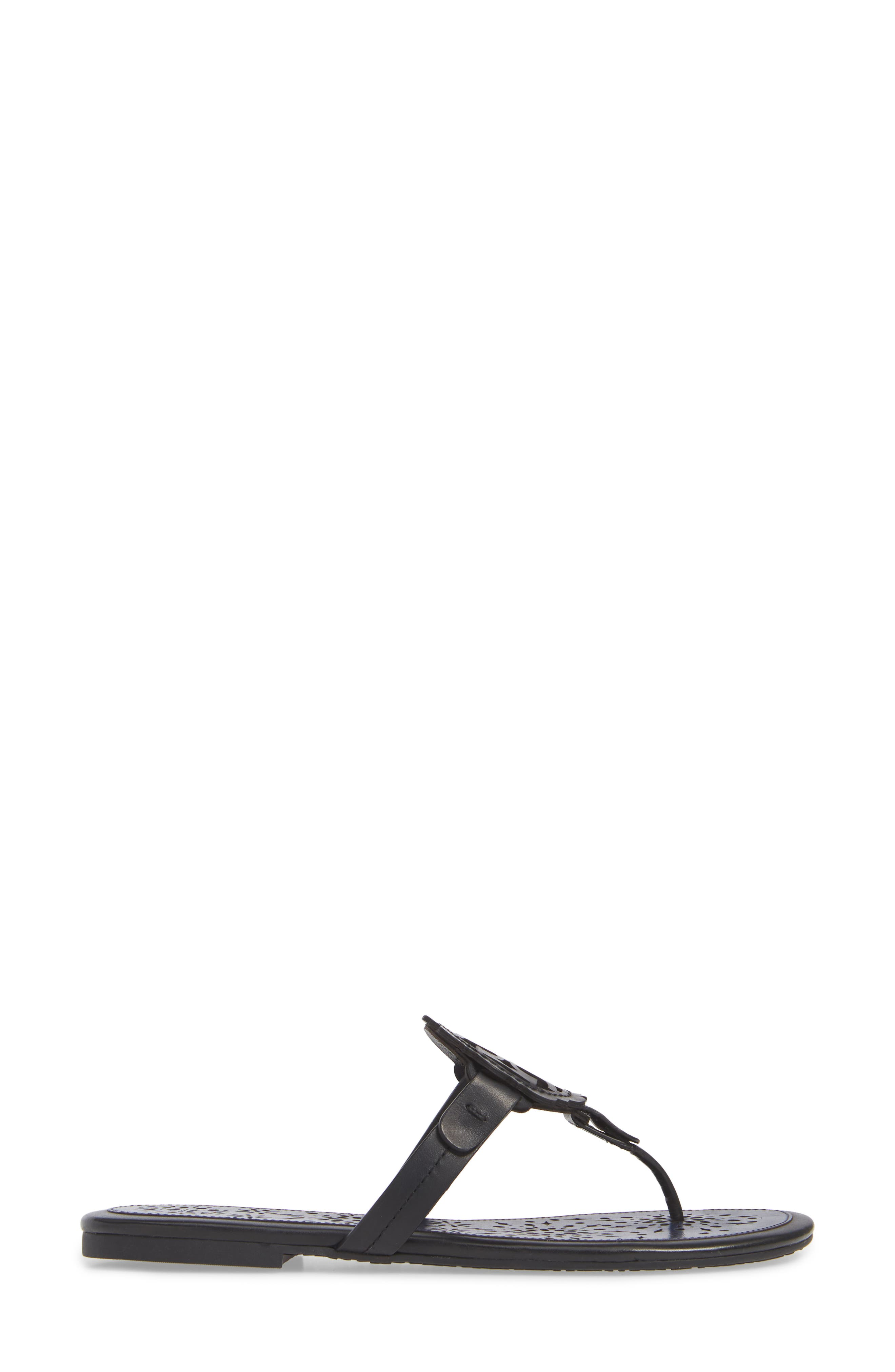 Miller Scalloped Medallion Sandal,                             Alternate thumbnail 3, color,                             PERFECT BLACK/ PERFECT NAVY