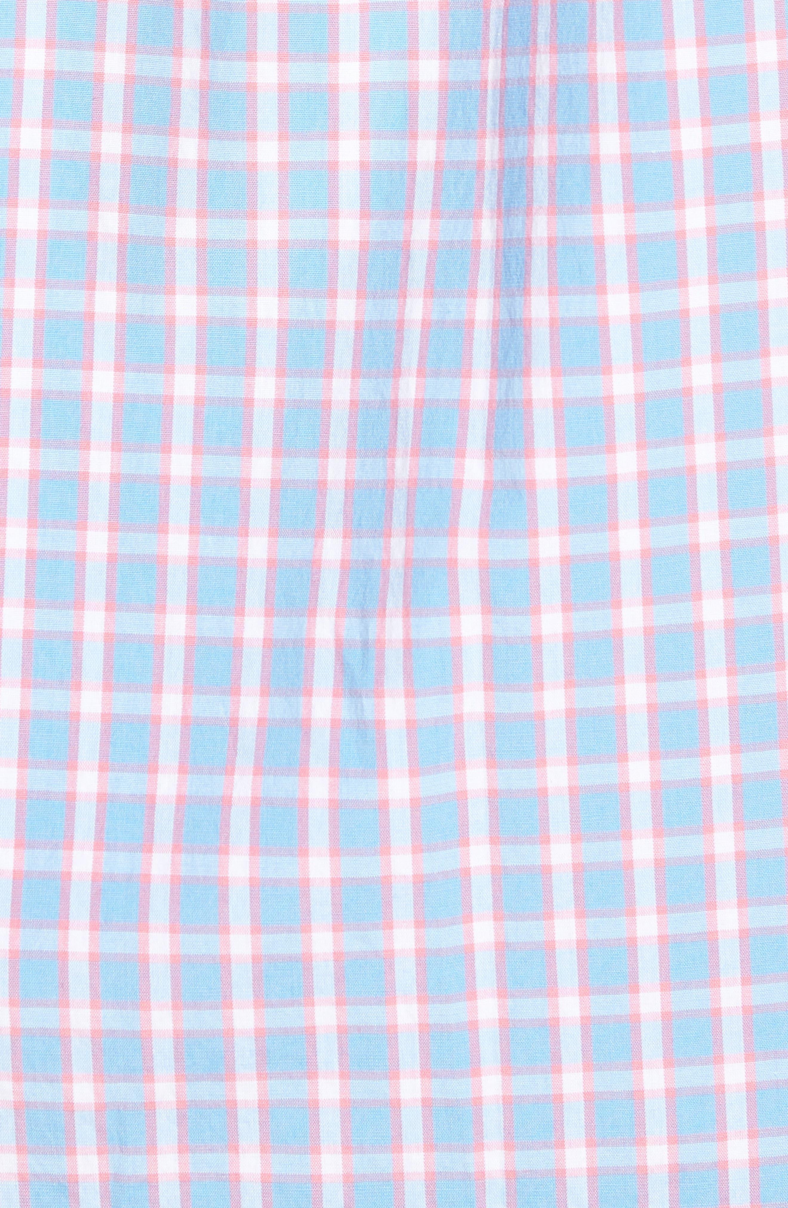 Harlock Pond Plaid Classic Fit Sport Shirt,                             Alternate thumbnail 5, color,                             OCEAN BREEZE