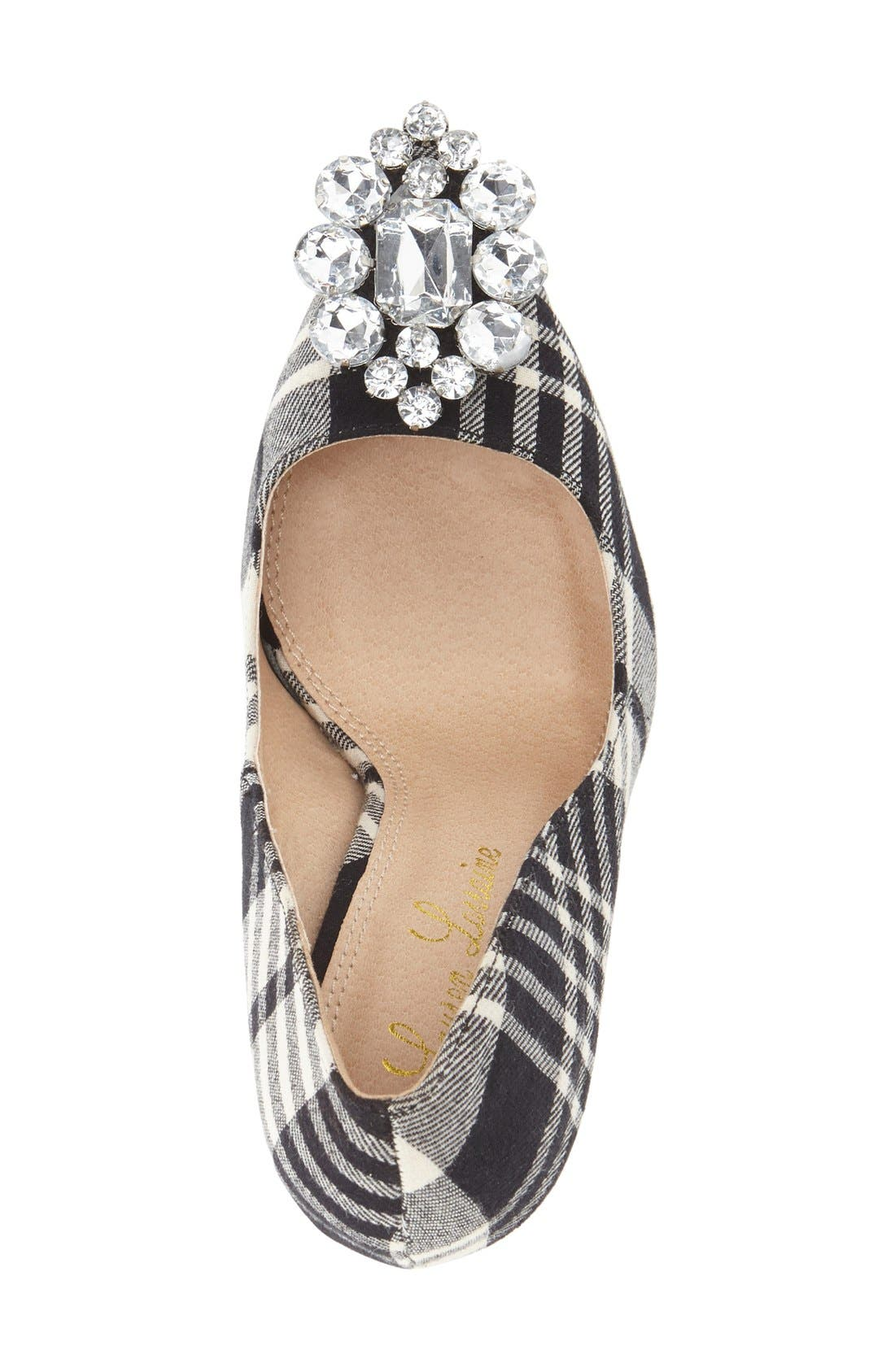 Crystal Pointy Toe Pump,                             Alternate thumbnail 3, color,                             001