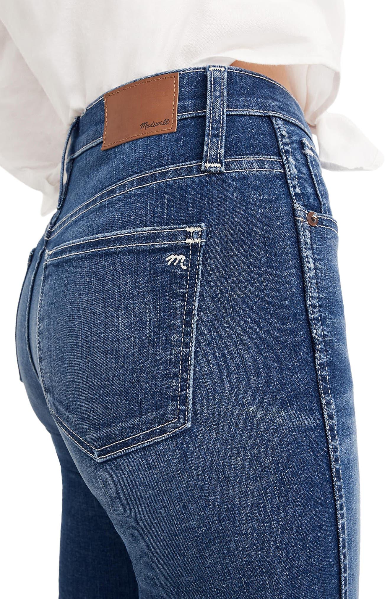 Raw Hem Slim Straight Leg Jeans,                             Alternate thumbnail 2, color,                             400