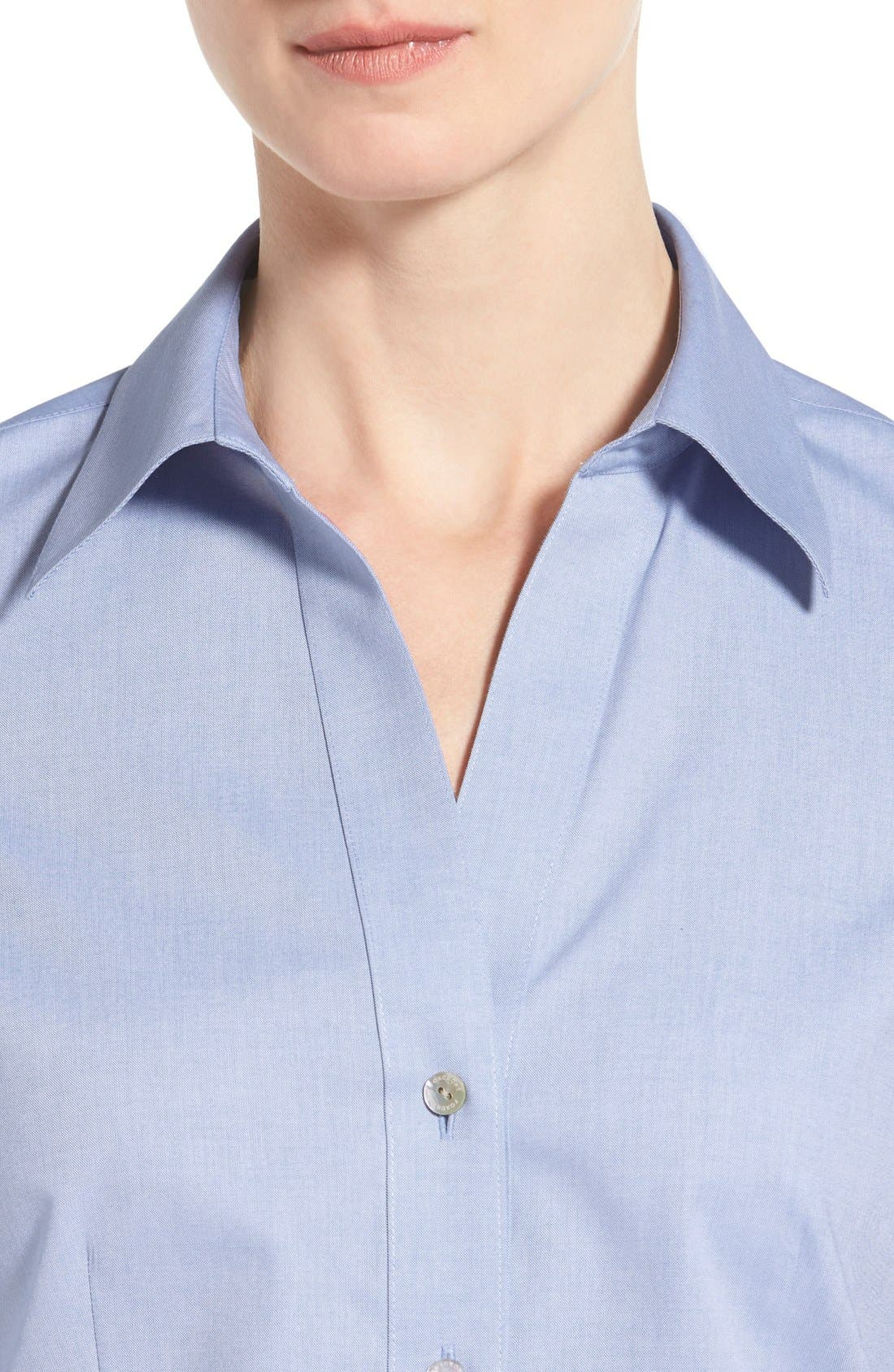 Non-Iron Fitted Shirt,                             Alternate thumbnail 15, color,