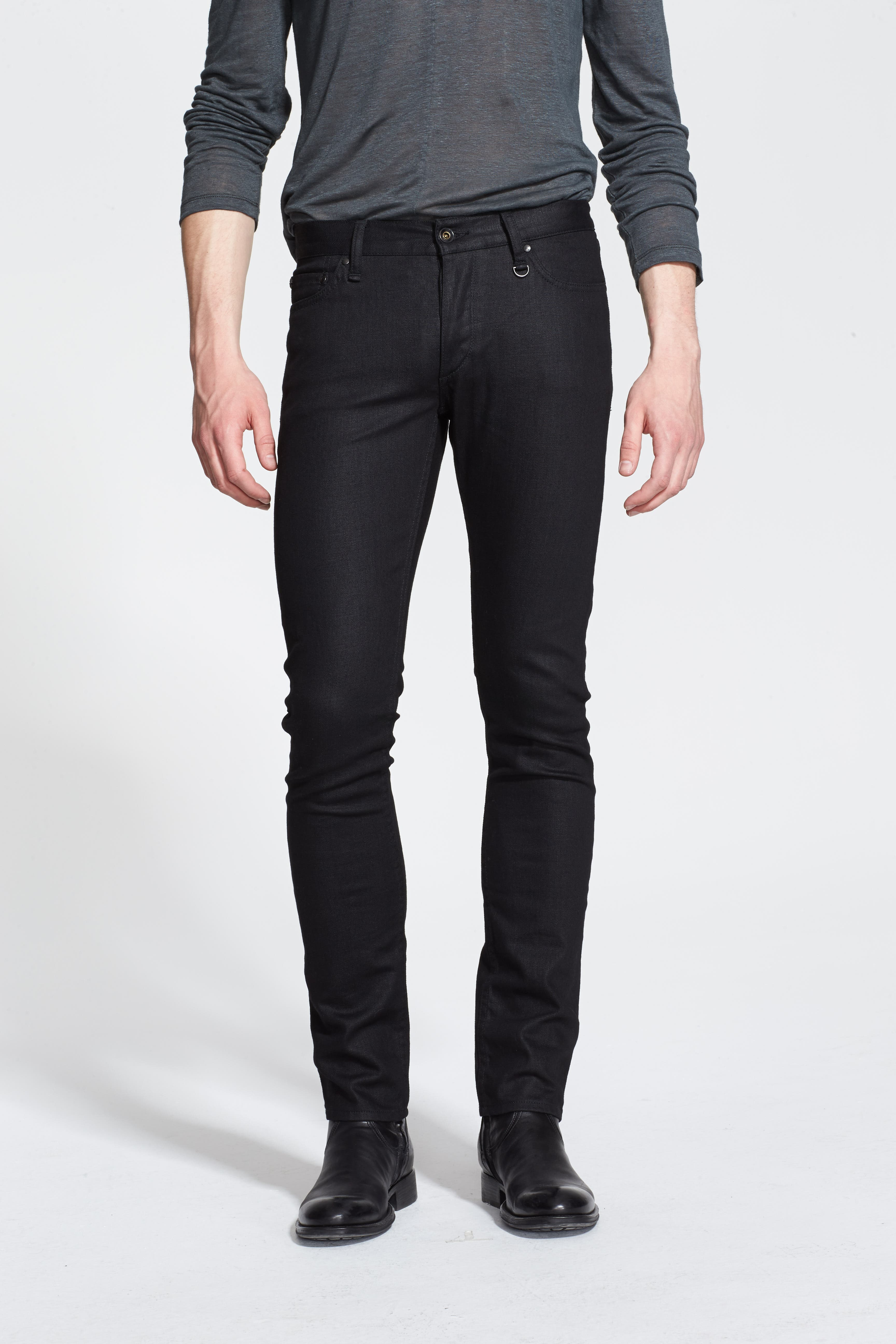Skinny Fit Coated Jeans,                         Main,                         color, 001