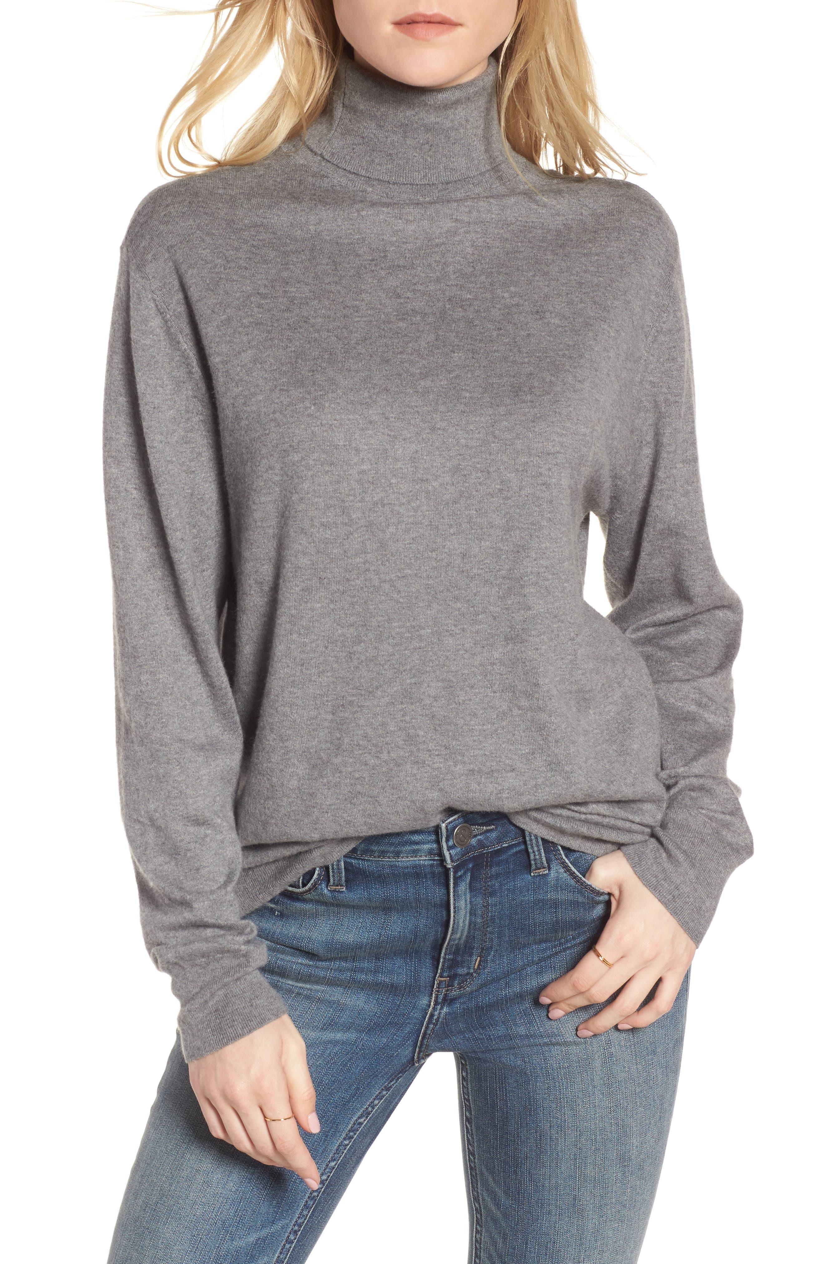 Boyfriend Turtleneck Sweater,                             Main thumbnail 2, color,