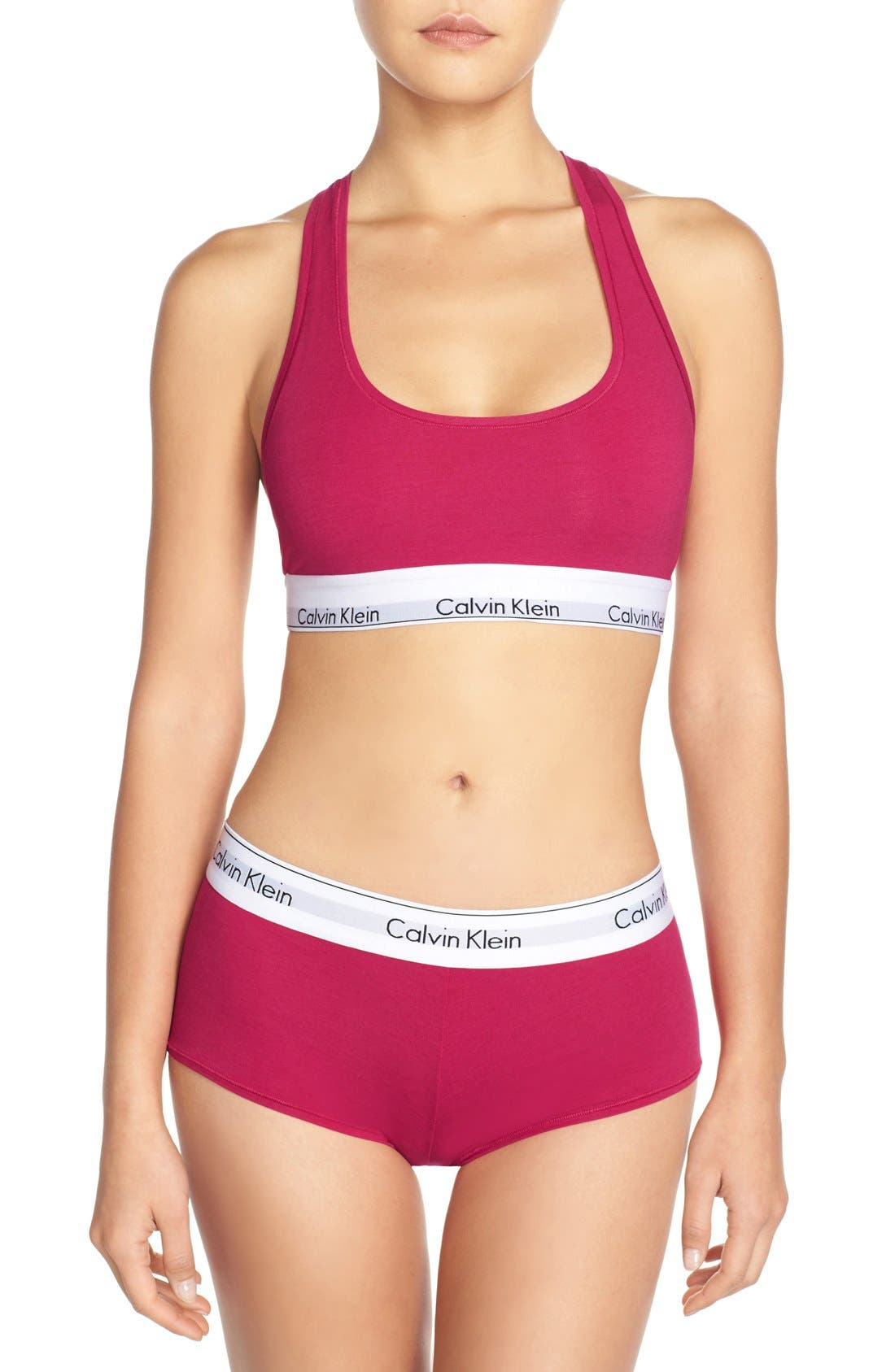 Modern Cotton Collection Cotton Blend Racerback Bralette,                             Alternate thumbnail 222, color,