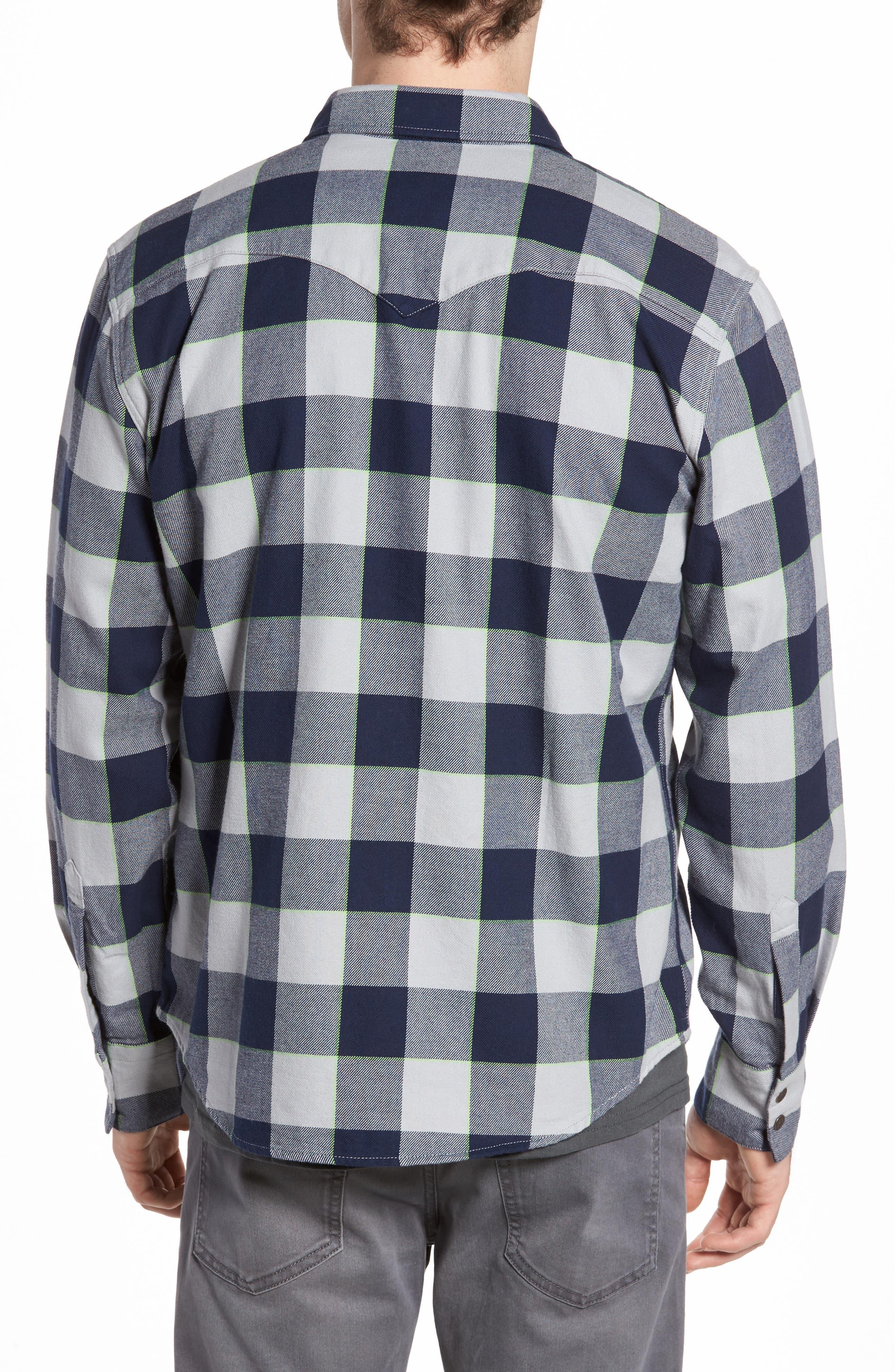 NFL Seahawks - Barstow Plaid Western Shirt,                             Alternate thumbnail 2, color,