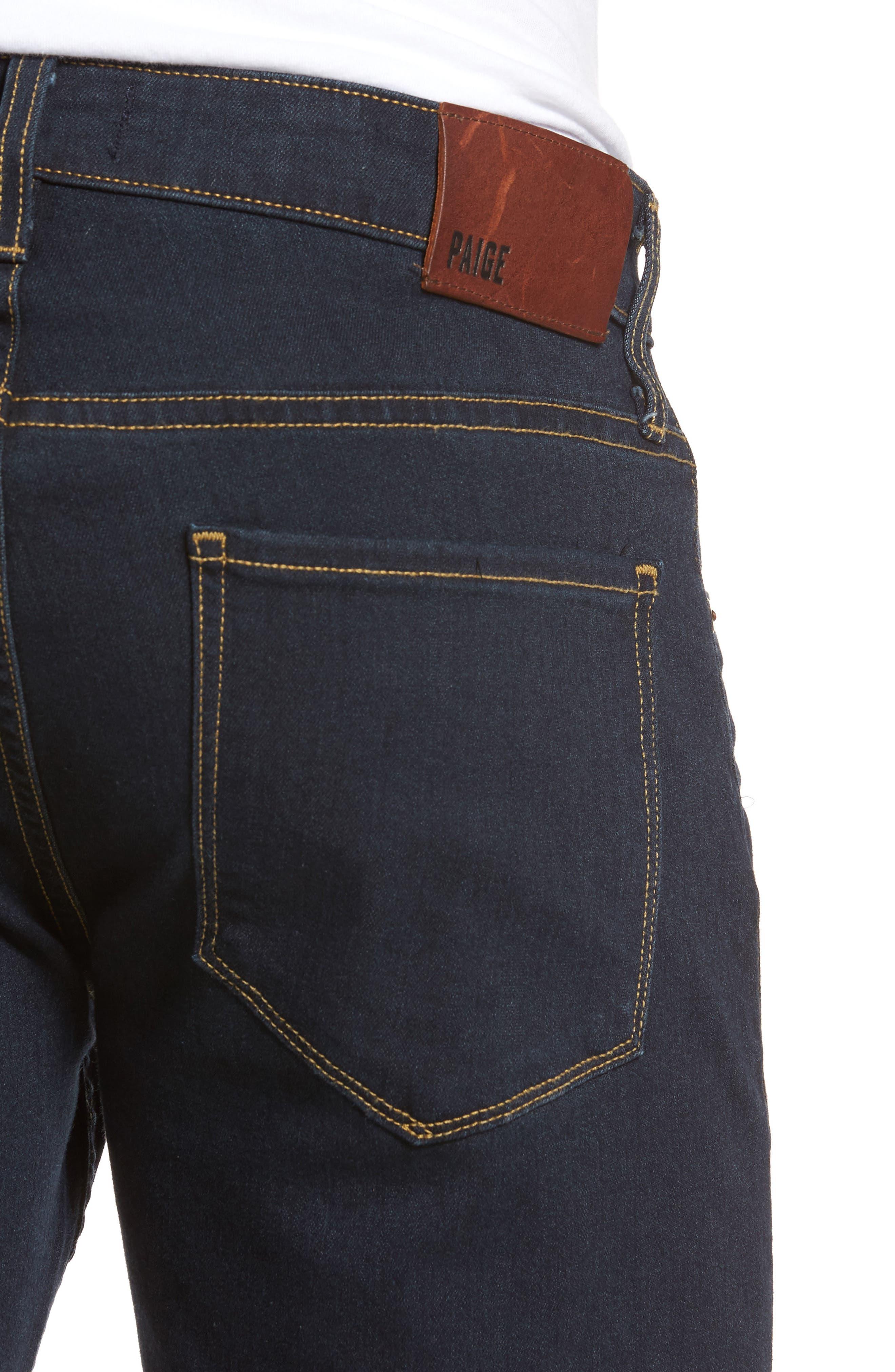 Transcend - Federal Slim Straight Leg Denim Shorts,                             Alternate thumbnail 4, color,                             400