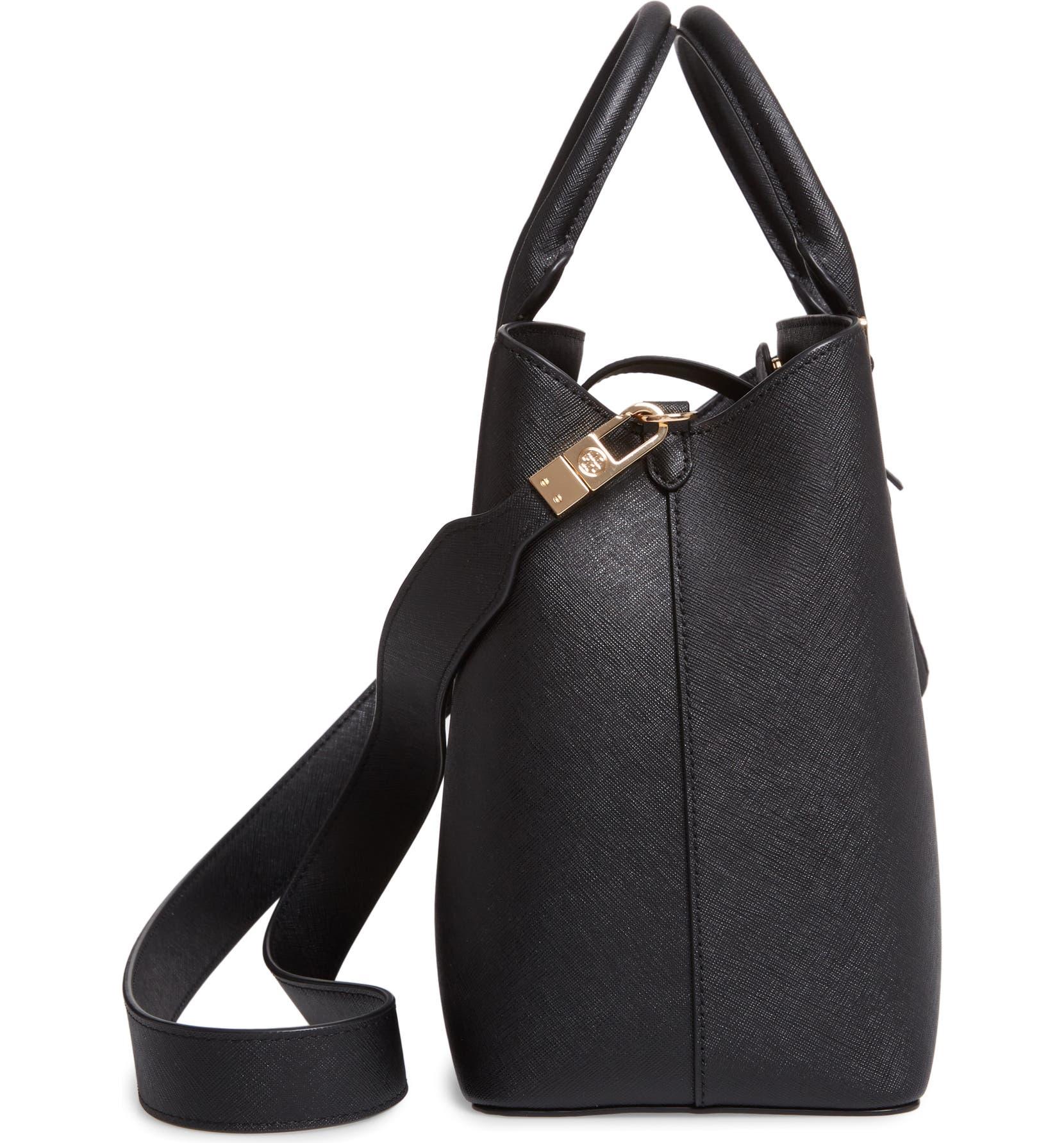 88f7f462e01 Tory Burch Medium Robinson Leather Triple Compartment Bag