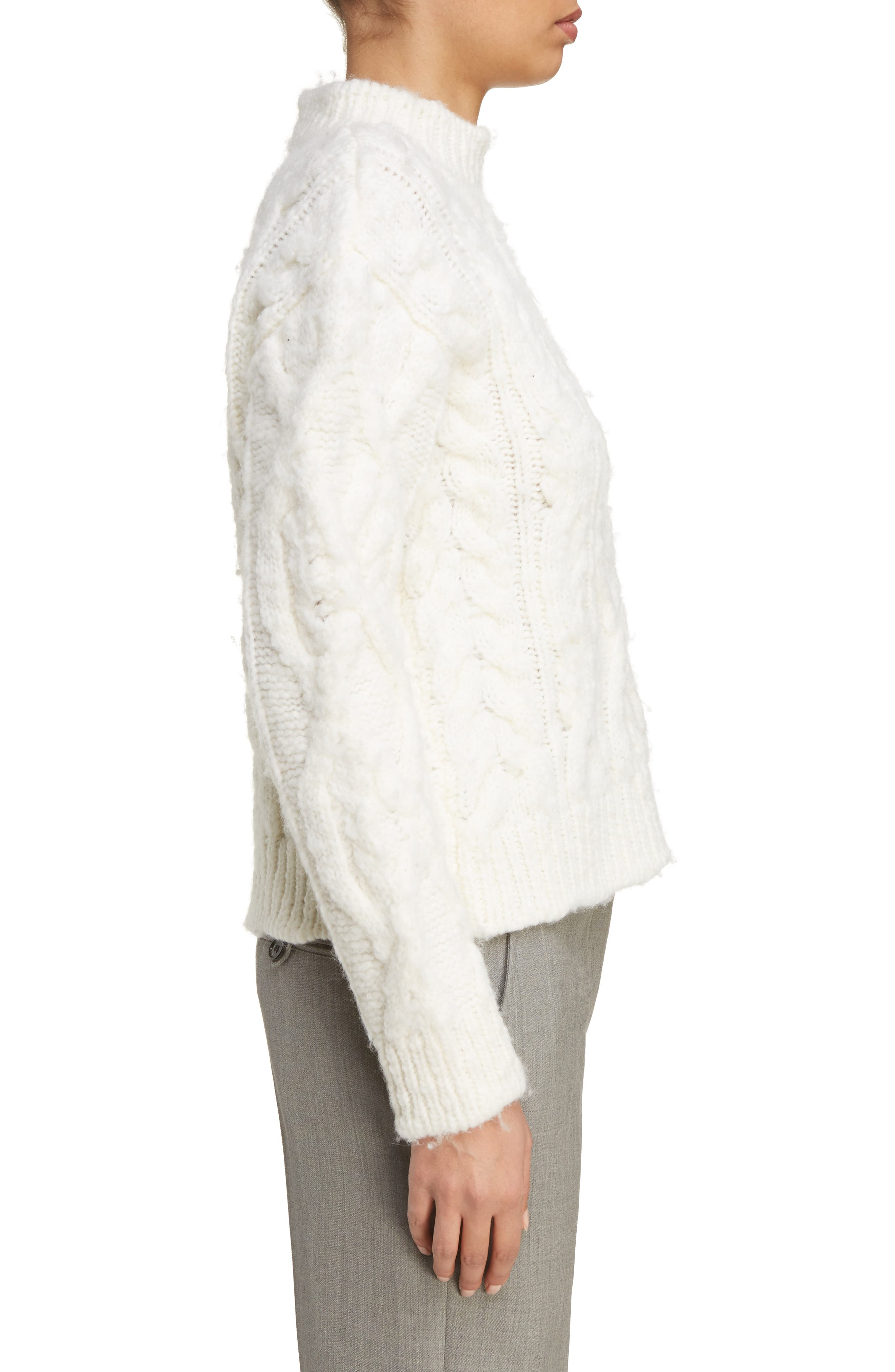 Edyta Cable Knit Sweater,                             Alternate thumbnail 3, color,                             900