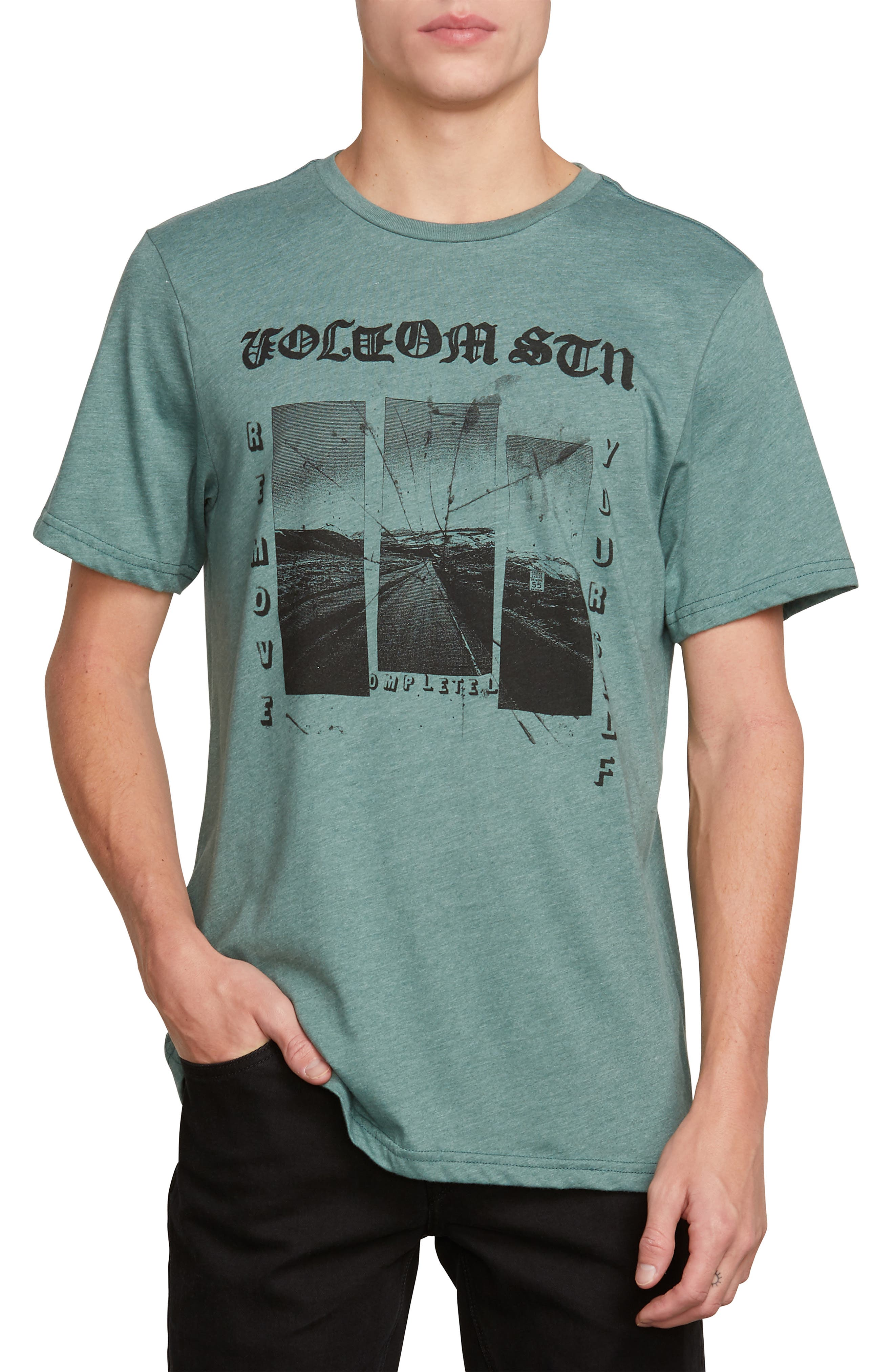 VOLCOM,                             Path to Freedom Graphic T-Shirt,                             Main thumbnail 1, color,                             366