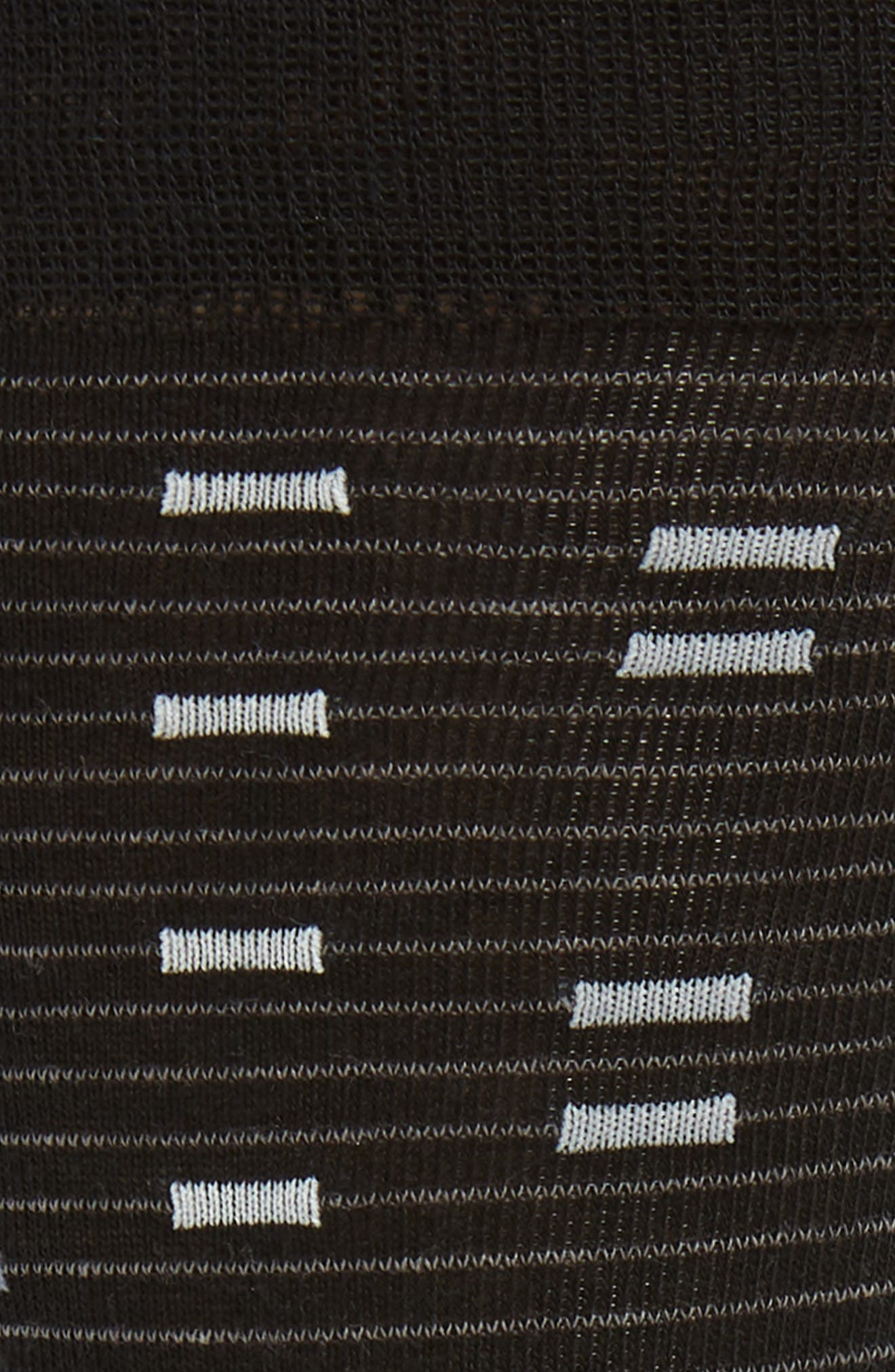 Digital Stripe Socks,                             Alternate thumbnail 2, color,                             BLACK/ WHITE