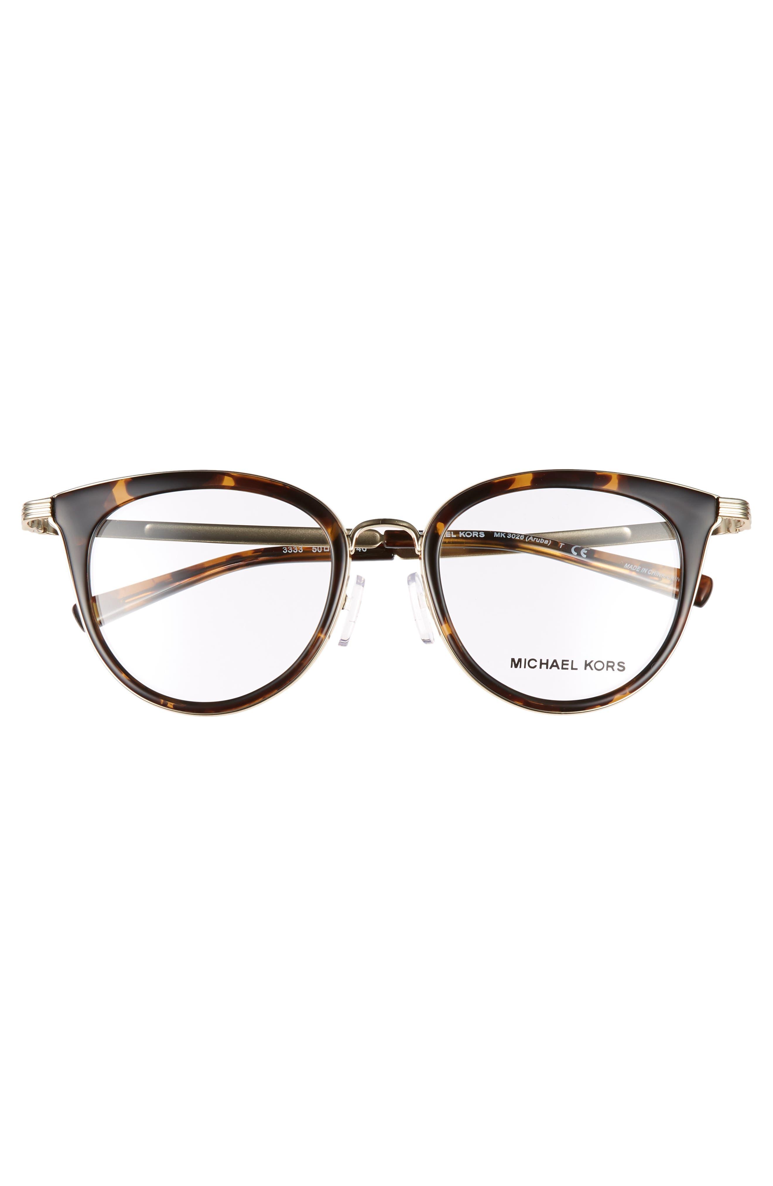 50mm Optical Glasses,                             Alternate thumbnail 3, color,                             HAVANA/ LITE GOLD