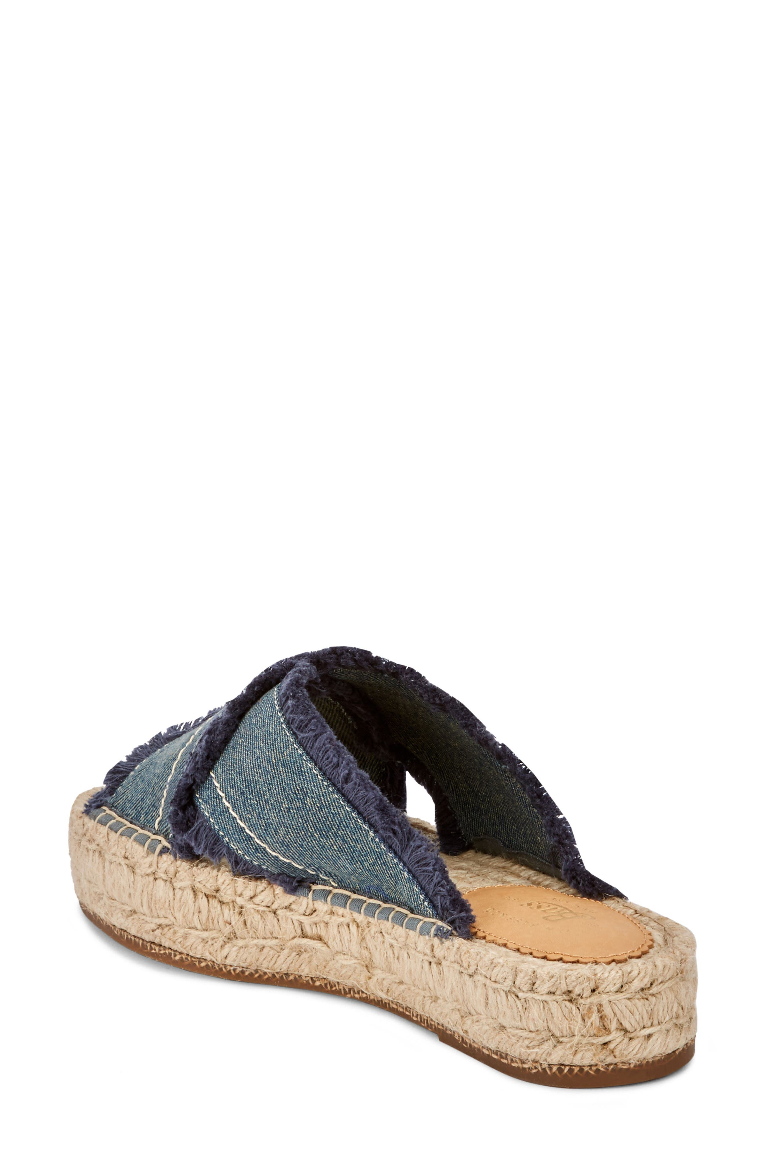 Anabelle Espadrille Sandal,                             Alternate thumbnail 2, color,                             DARK BLUE DENIM FABRIC