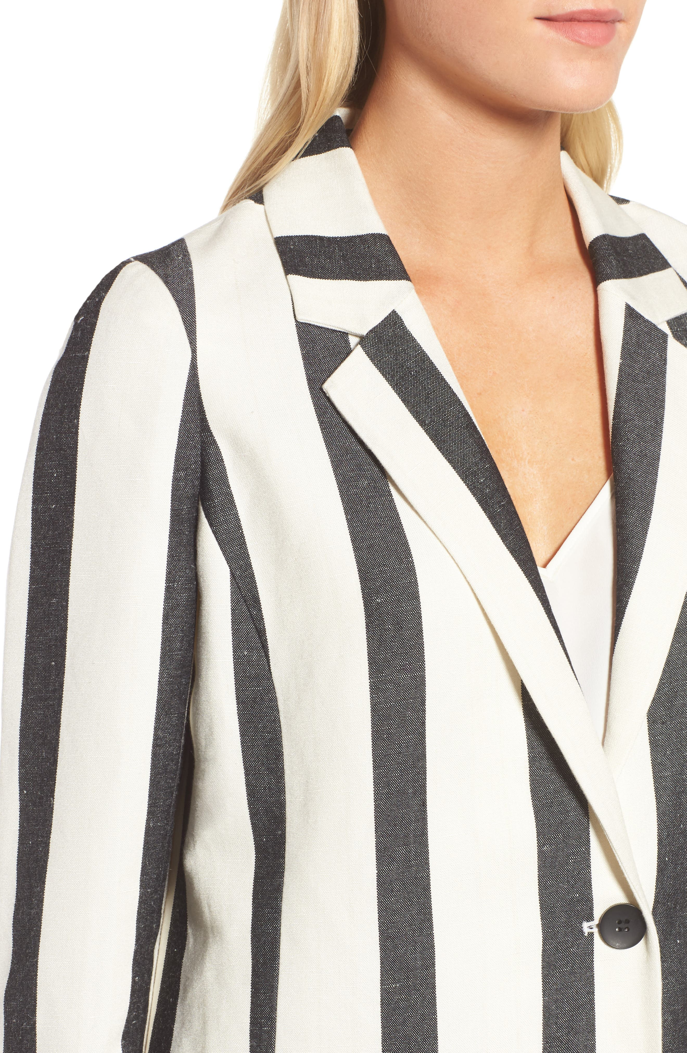 Stripe Blazer,                             Alternate thumbnail 4, color,