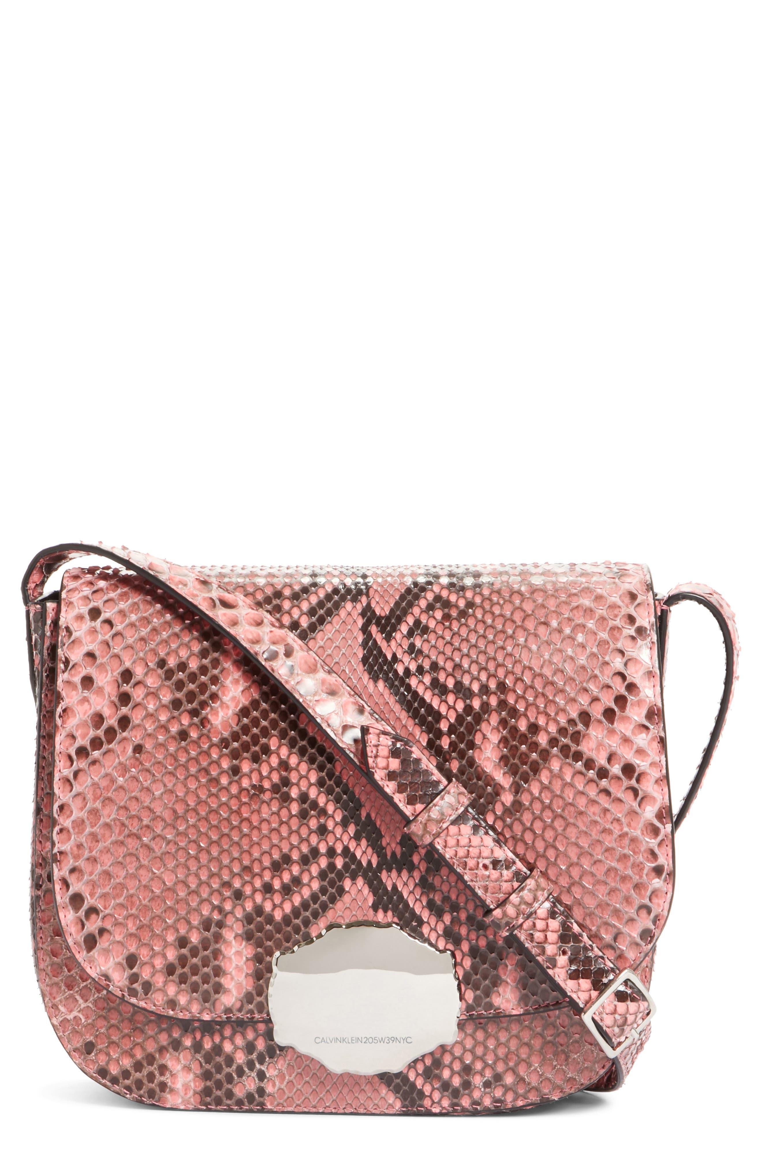 Calvin Klein 205W395NYC Genuine Python Shoulder Bag,                             Main thumbnail 1, color,