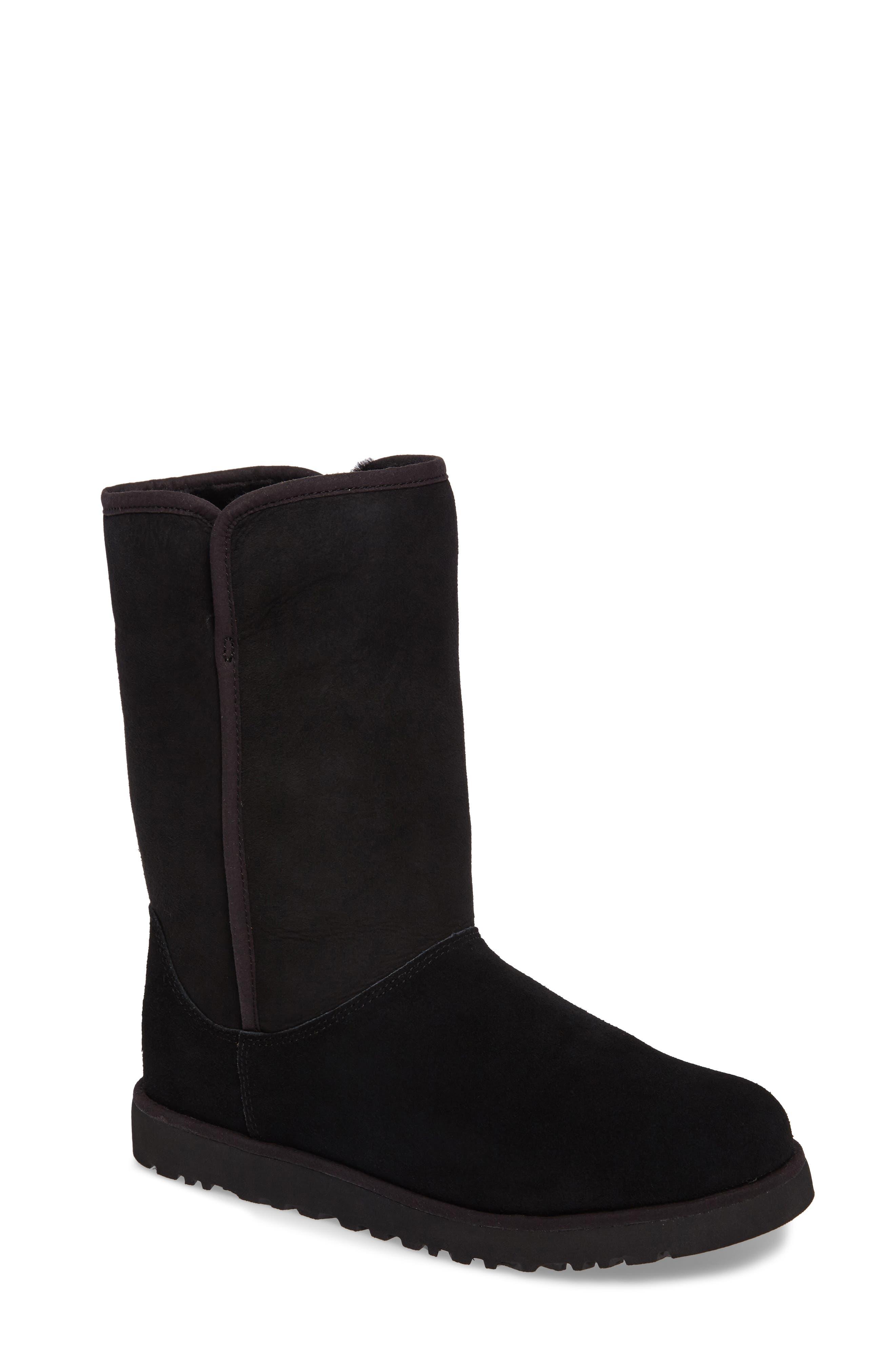 'Michelle' Boot,                             Main thumbnail 1, color,                             BLACK SUEDE