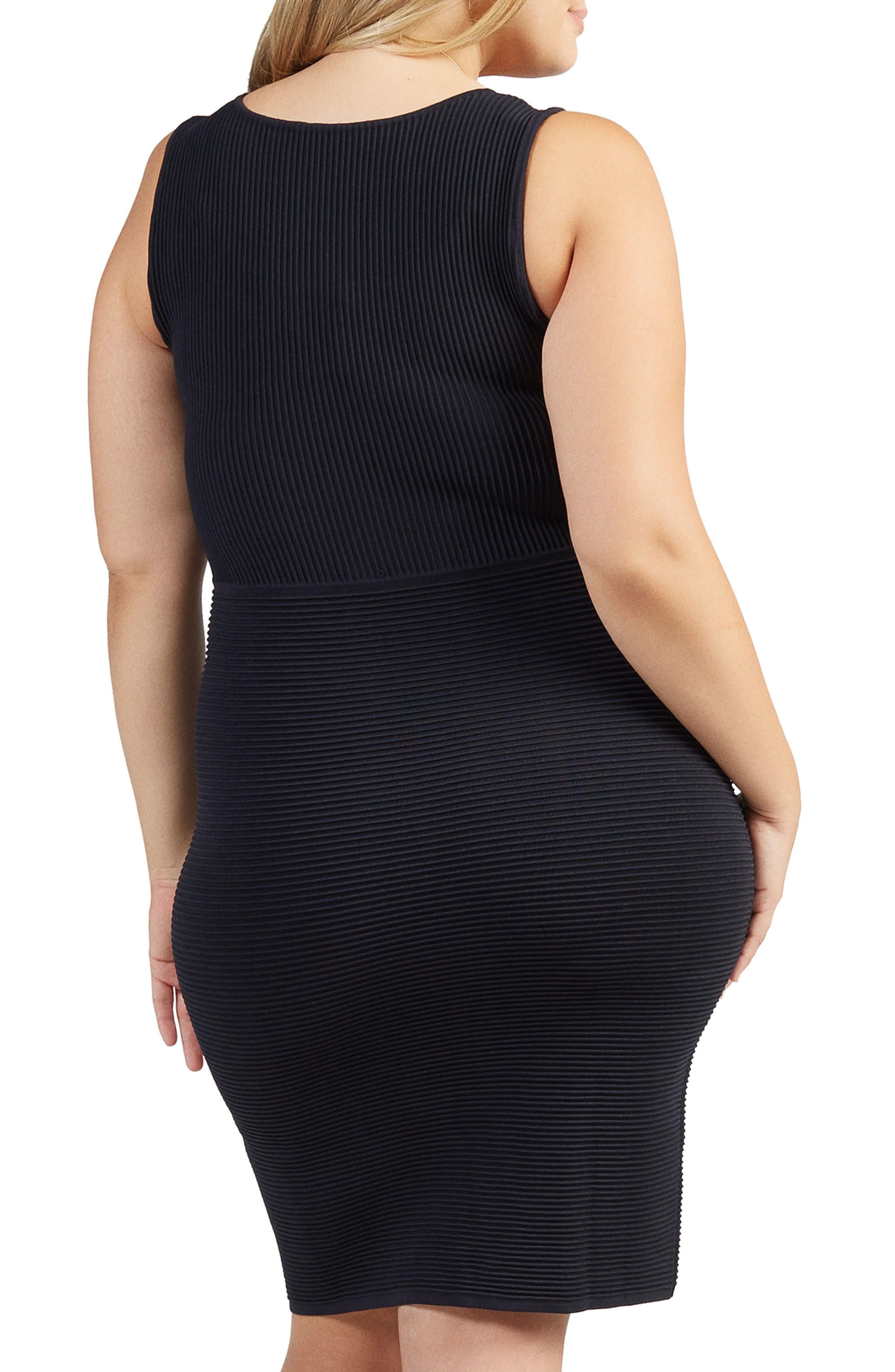 Beri Rib Knit Body-Con Dress,                             Alternate thumbnail 2, color,                             001