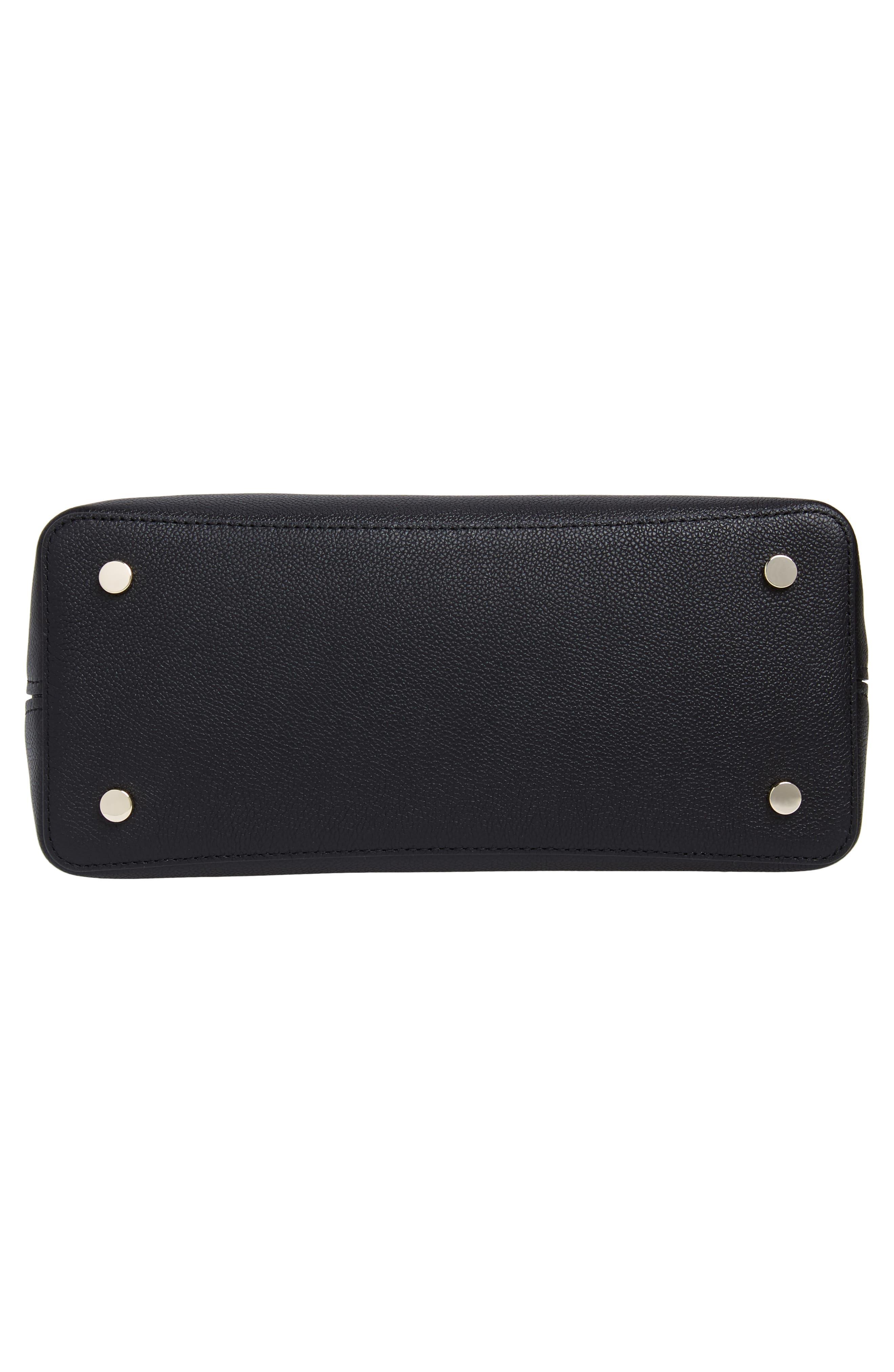 KATE SPADE NEW YORK,                             large margaux leather satchel,                             Alternate thumbnail 6, color,                             BLACK