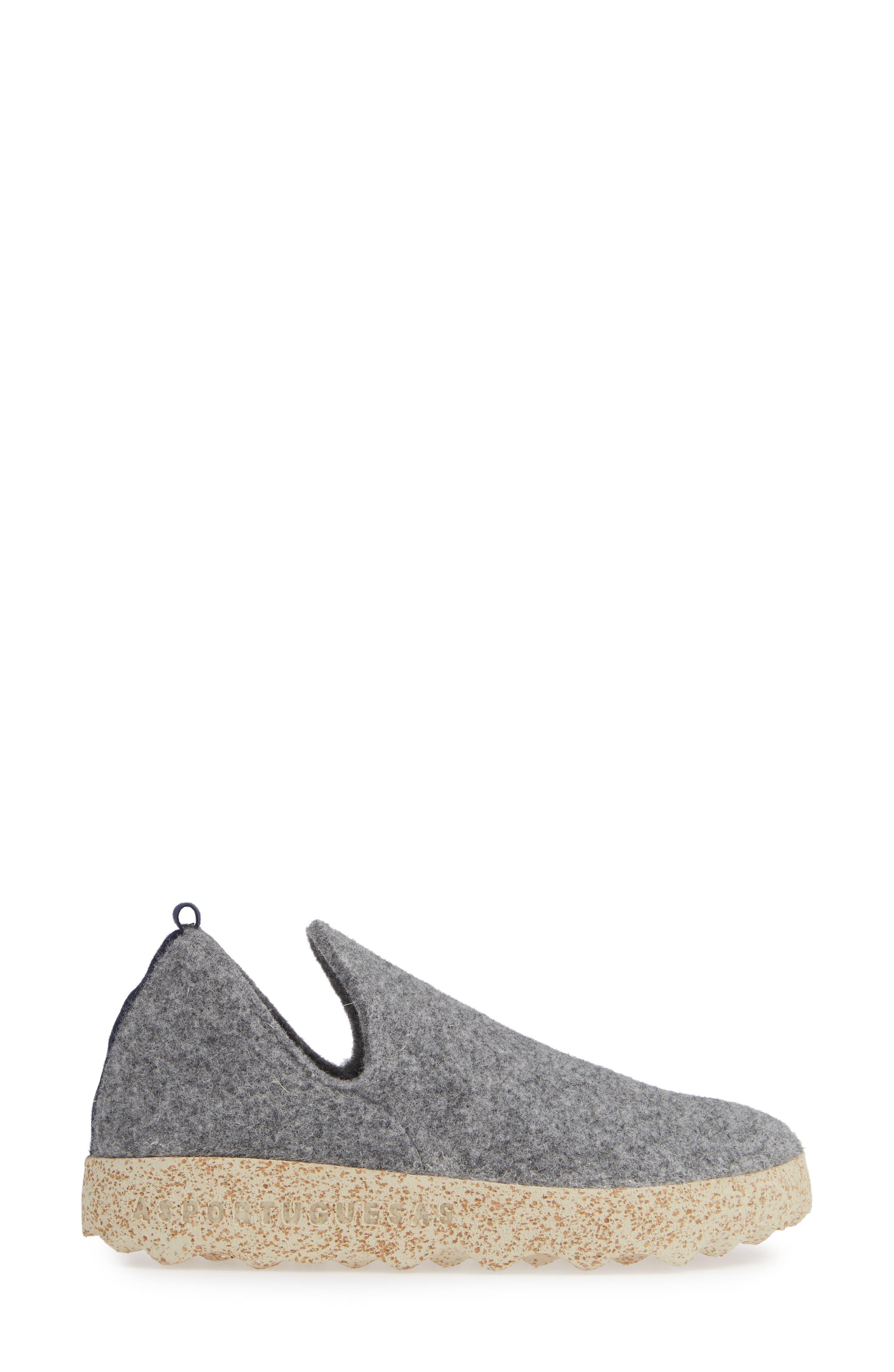 ASPORTUGUESAS BY FLY LONDON,                             City Sneaker,                             Alternate thumbnail 3, color,                             CONCRETE TWEED/FELT FABRIC