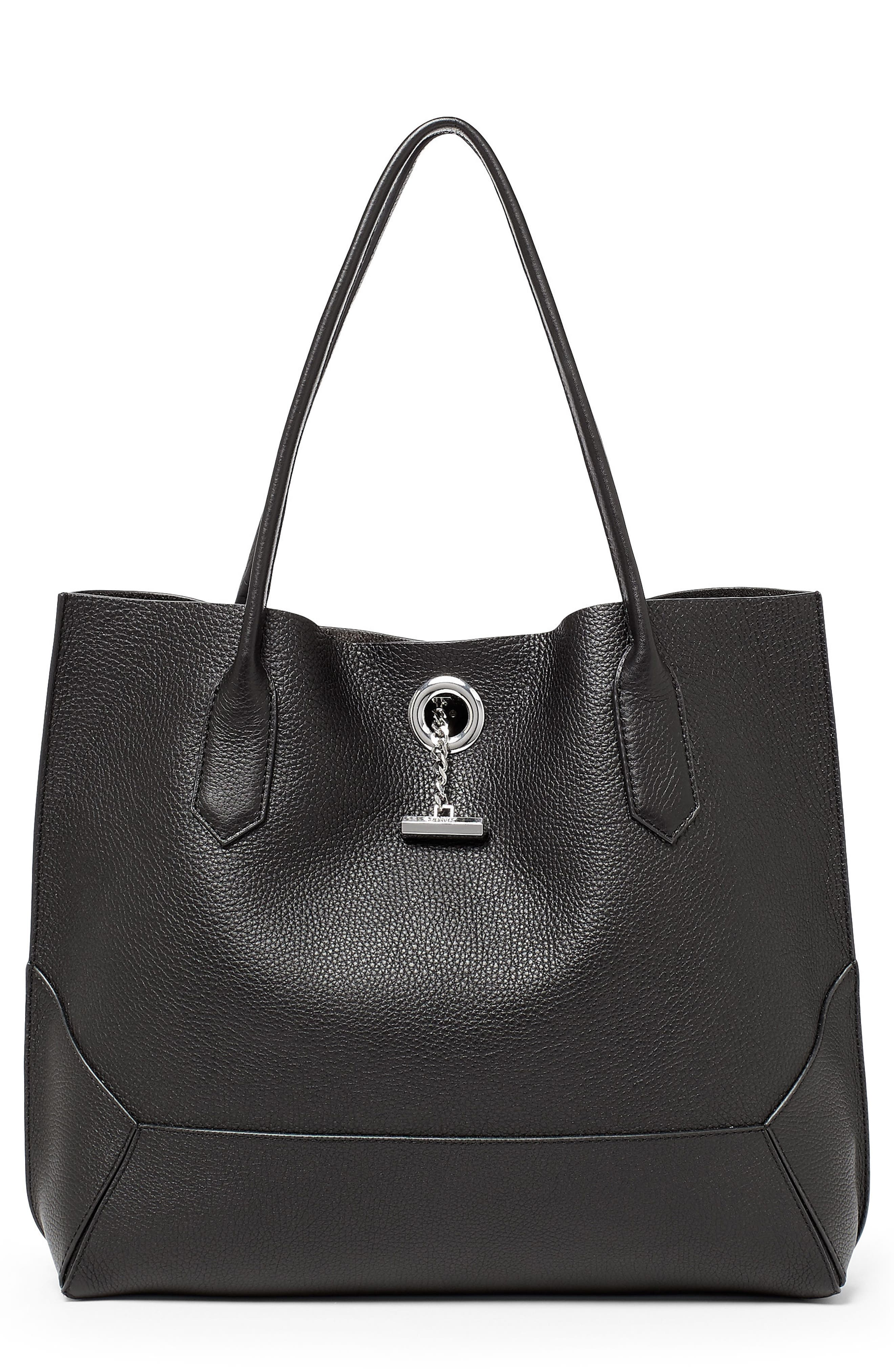 Waverly Leather Tote,                         Main,                         color, 001