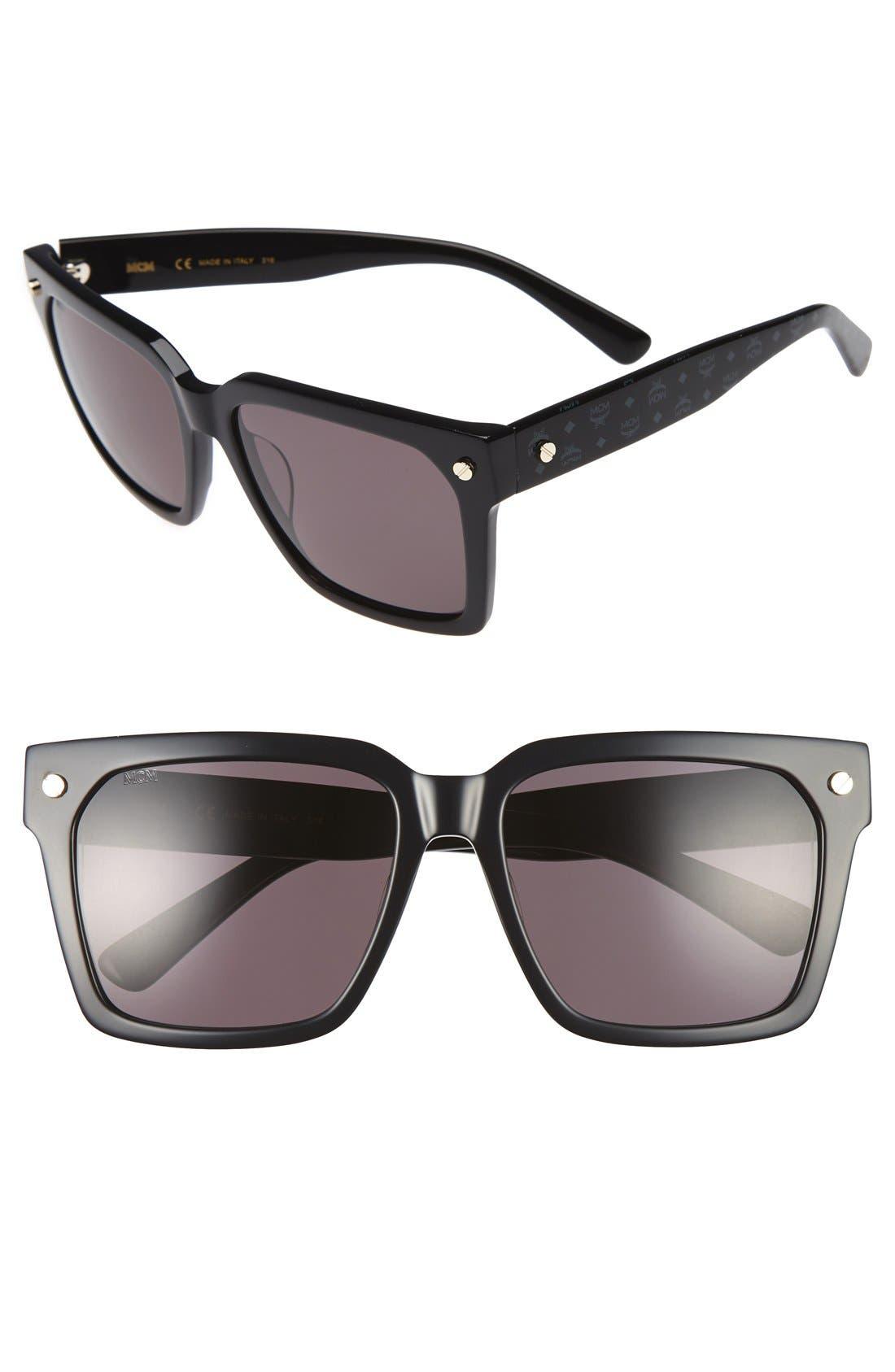 57mm Sunglasses,                             Main thumbnail 1, color,                             004