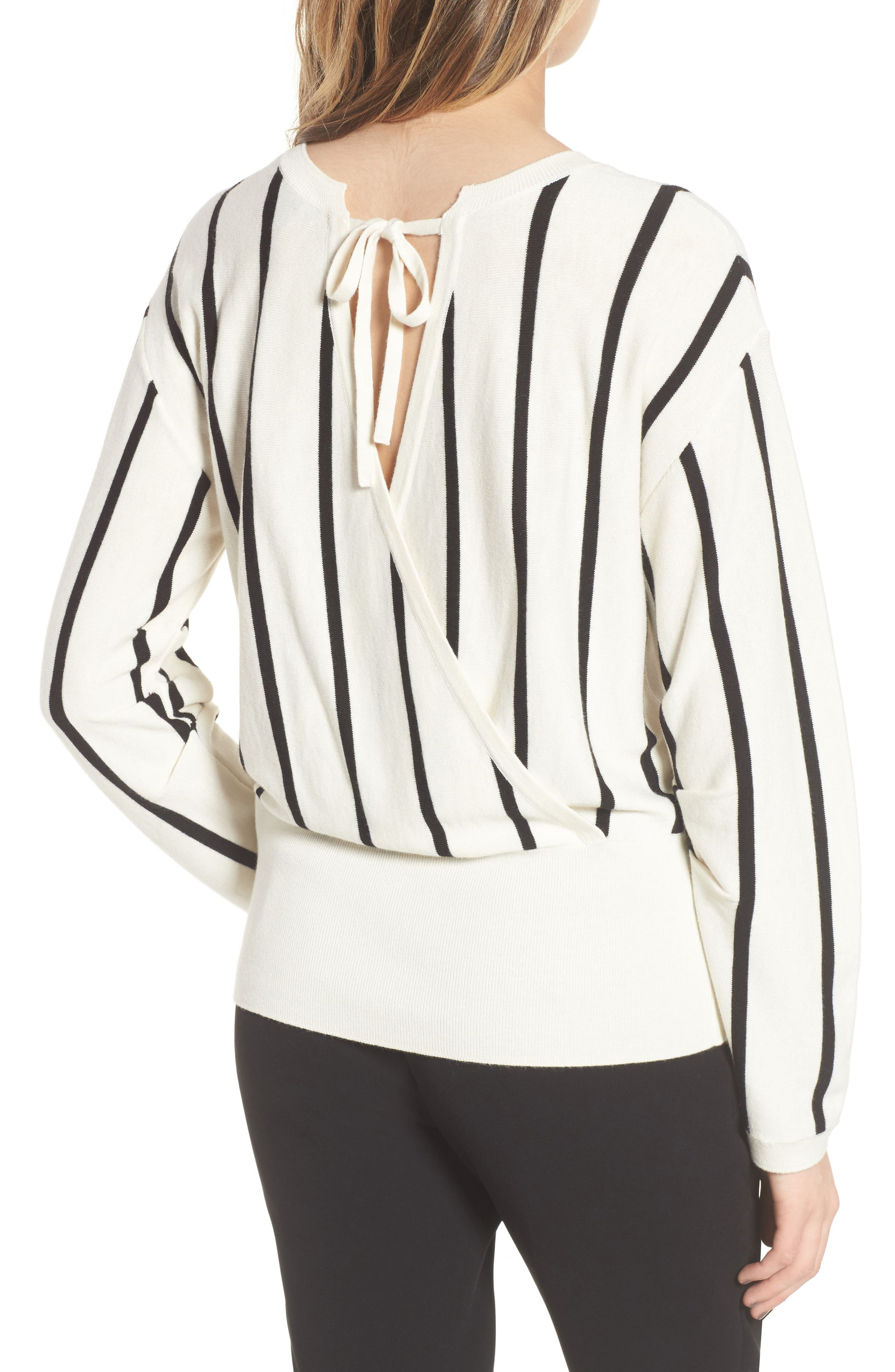 Vertical Stripe Sweater,                             Alternate thumbnail 2, color,                             900