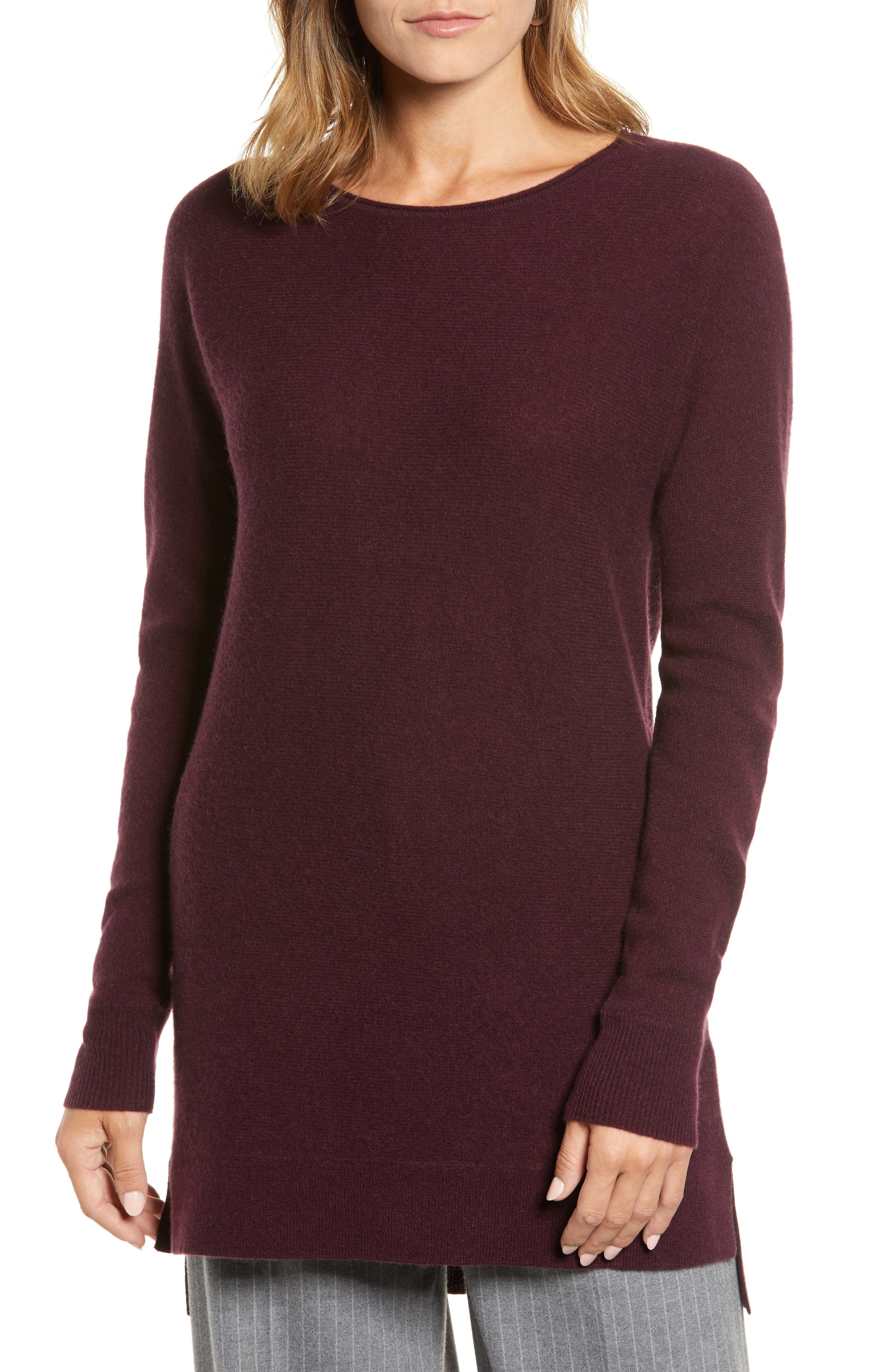 High/Low Wool & Cashmere Tunic Sweater,                             Alternate thumbnail 35, color,