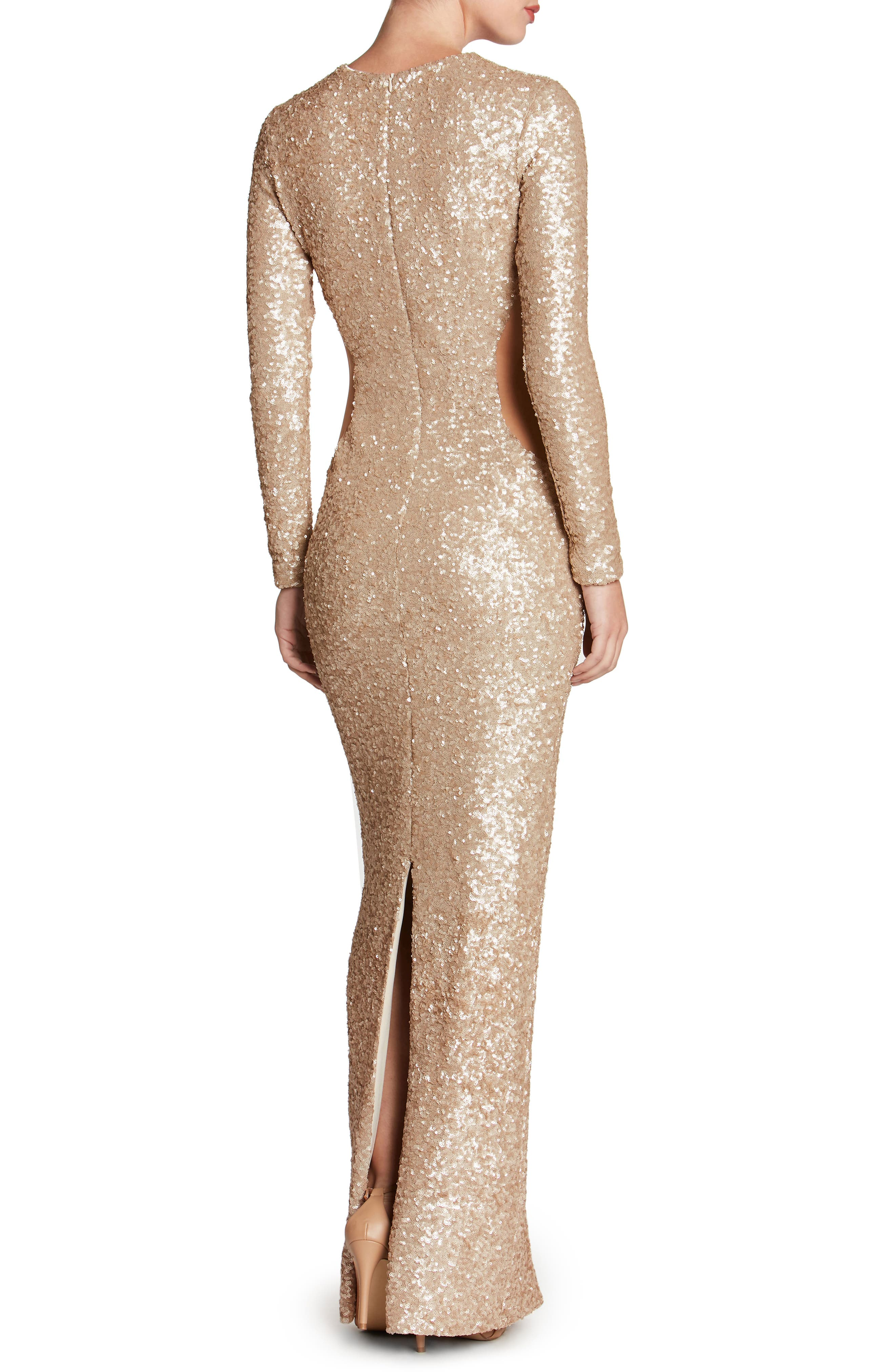 Lara Body-Con Gown,                             Alternate thumbnail 10, color,