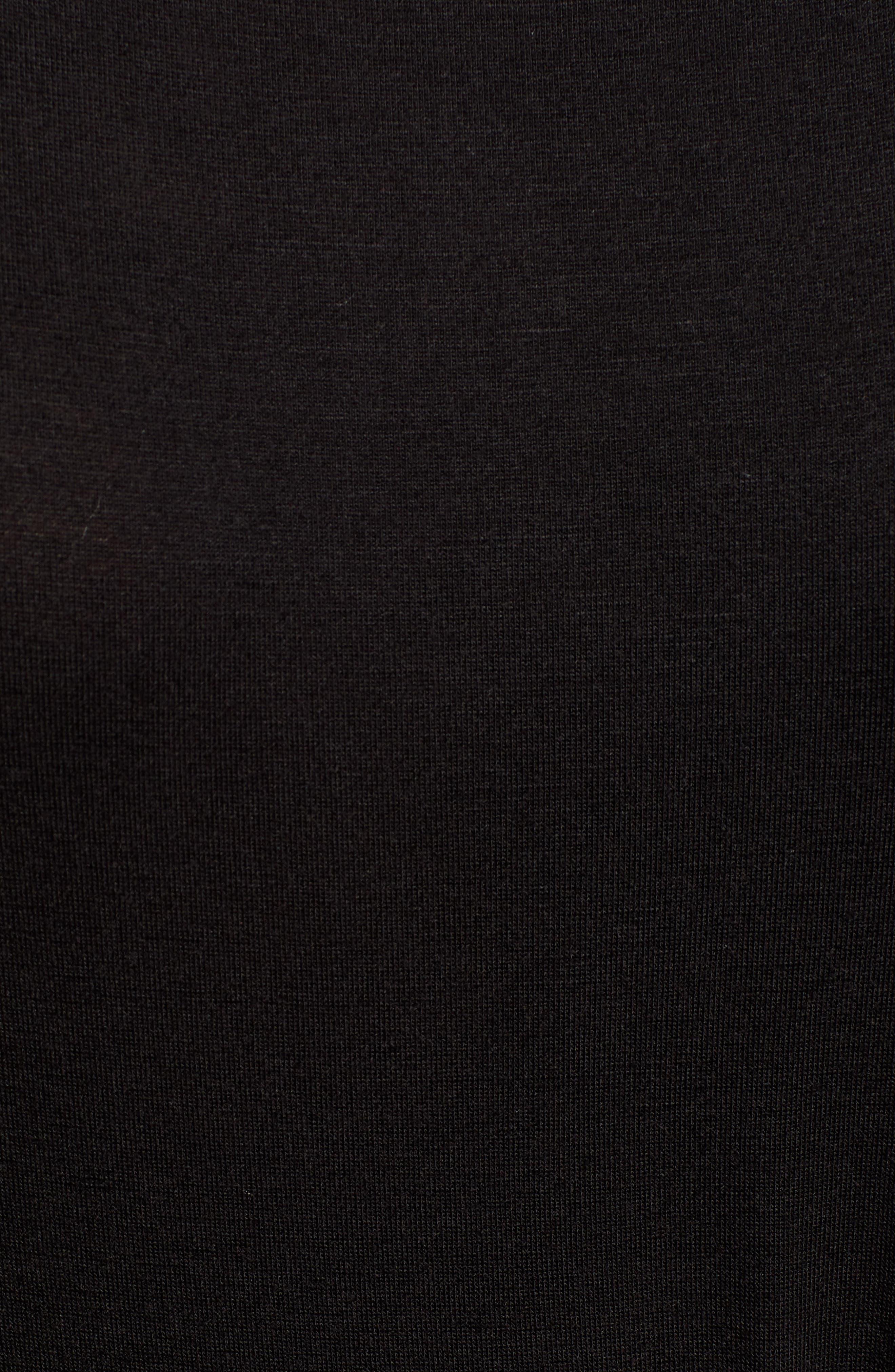 CASLON<SUP>®</SUP>,                             Front Gathered Maxi Dress,                             Alternate thumbnail 6, color,                             BLACK